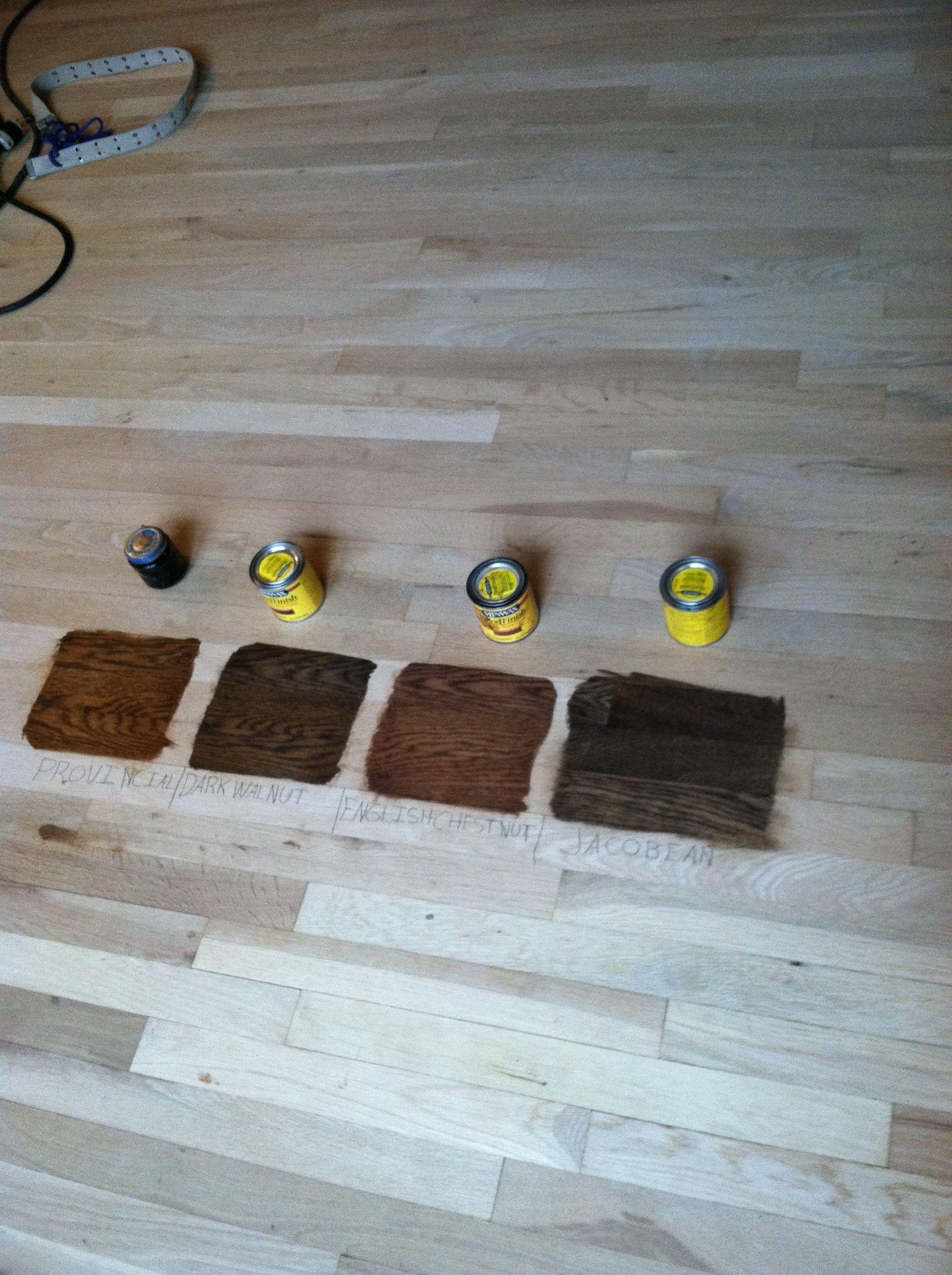 Minwax stain on WHITE oak floor   Wood Stain Colors   Pinterest