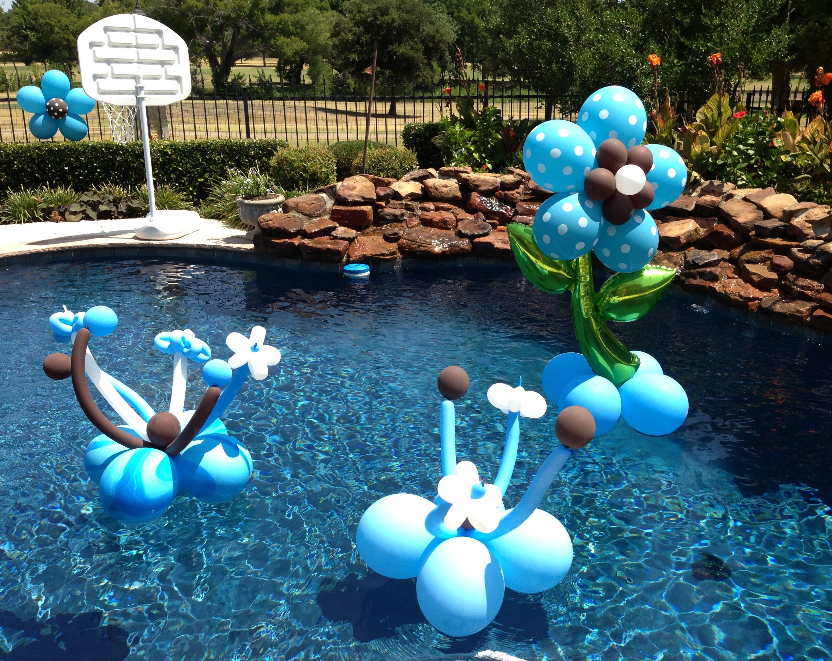 1000 images about pool party themes on pinterest luau for Pool decorations