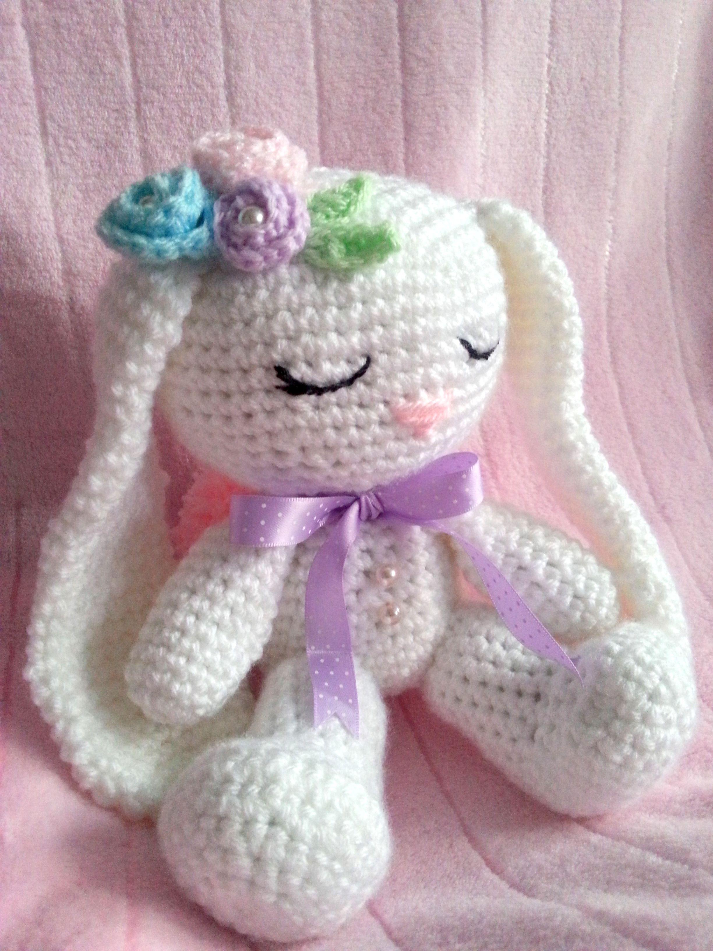 How To Crochet An Amigurumi Rabbit : crochet, amigurumi bunny Crochet Pinterest