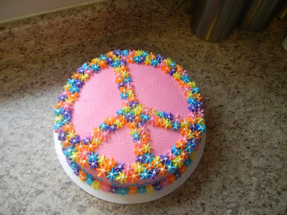 peace sign cake (using candy?) Cake Walk (cakes I can ...