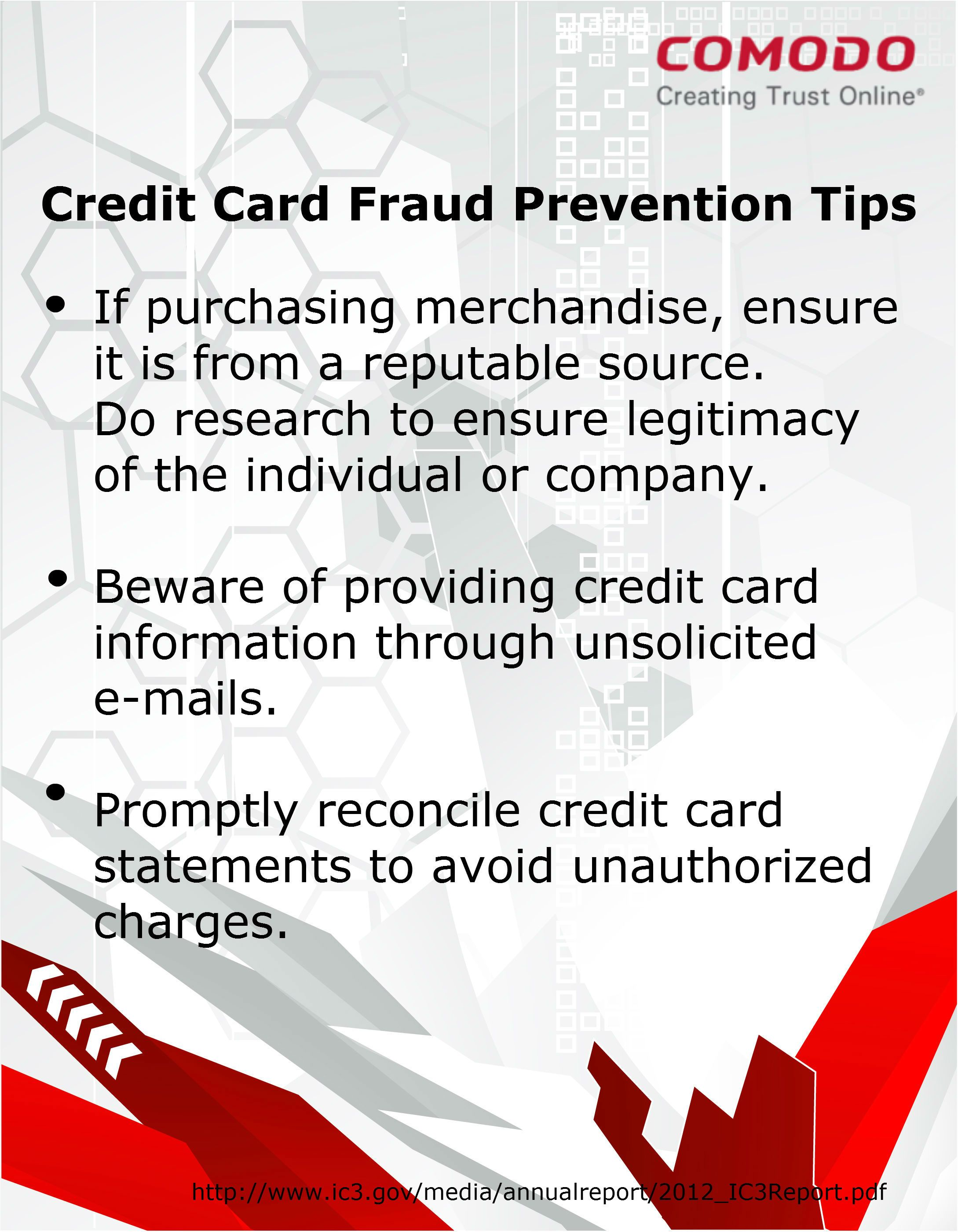 credit card scams via email