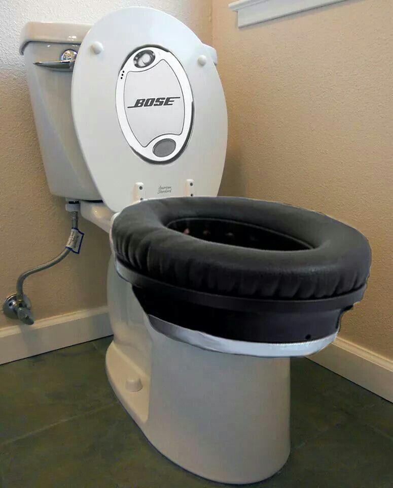 Nose noise canceling toilet seat lol | Funny Bones | Pinterest