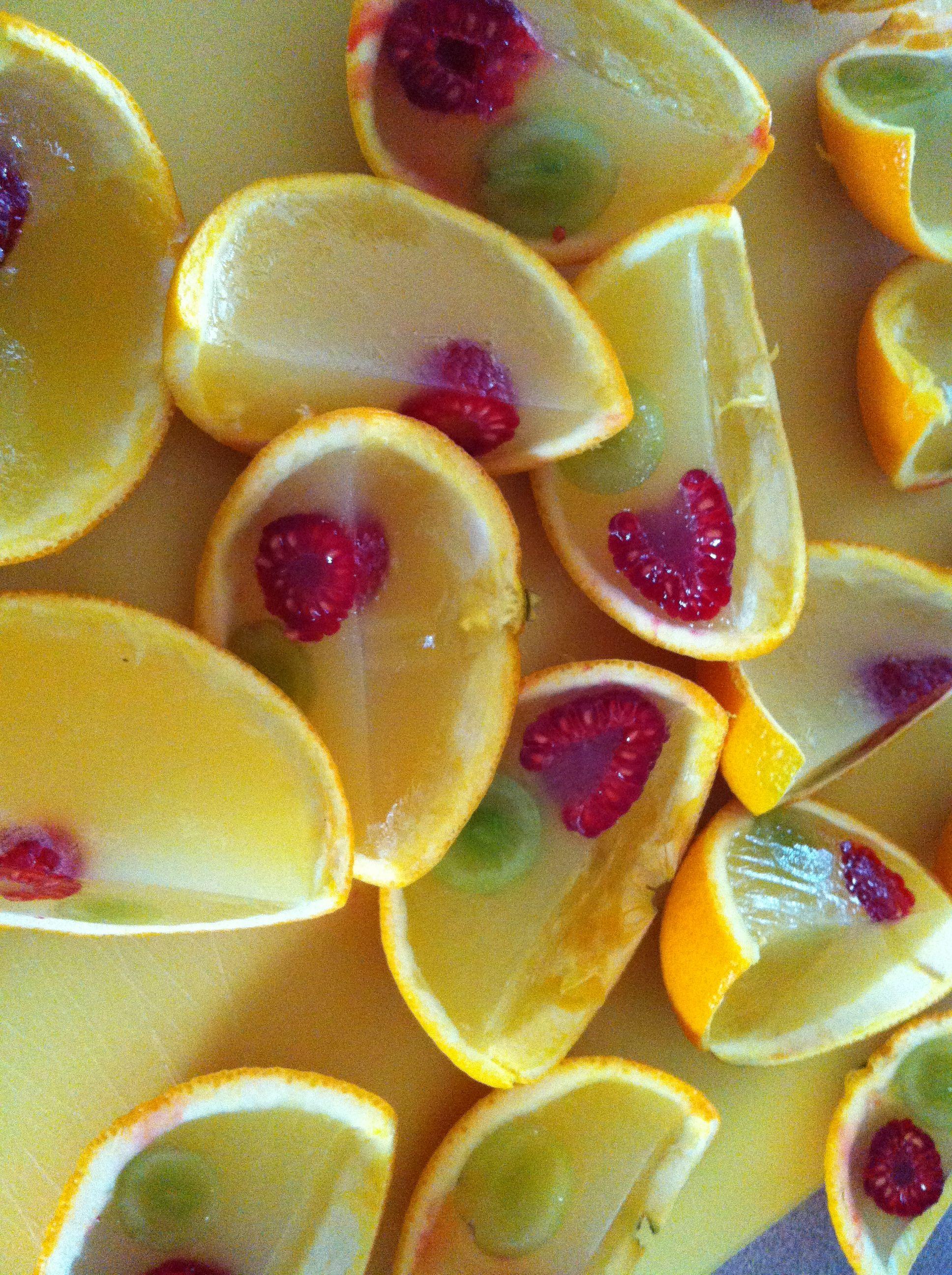 jello shots in orange peels Used this recipe for the jello shot ...