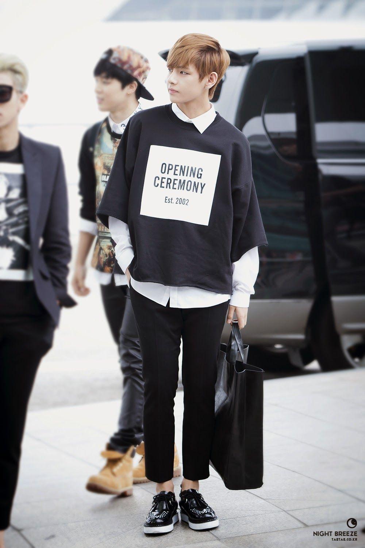 bts グク 空港ファッション
