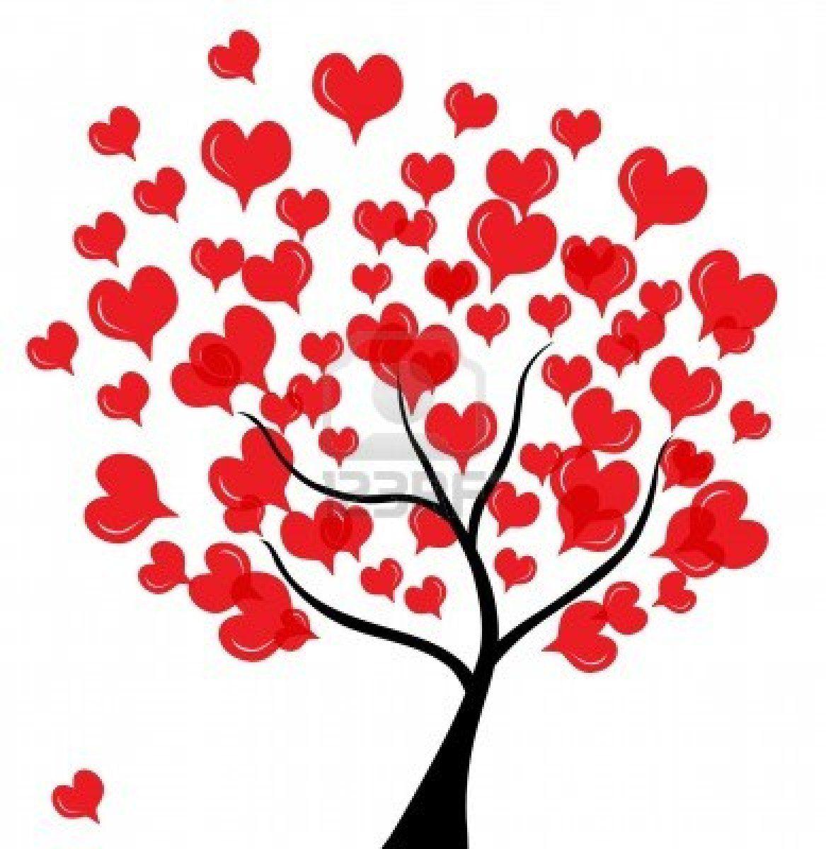 abstract-love-baum-zum-valentinstag-in-farben-rot-schwarz ...