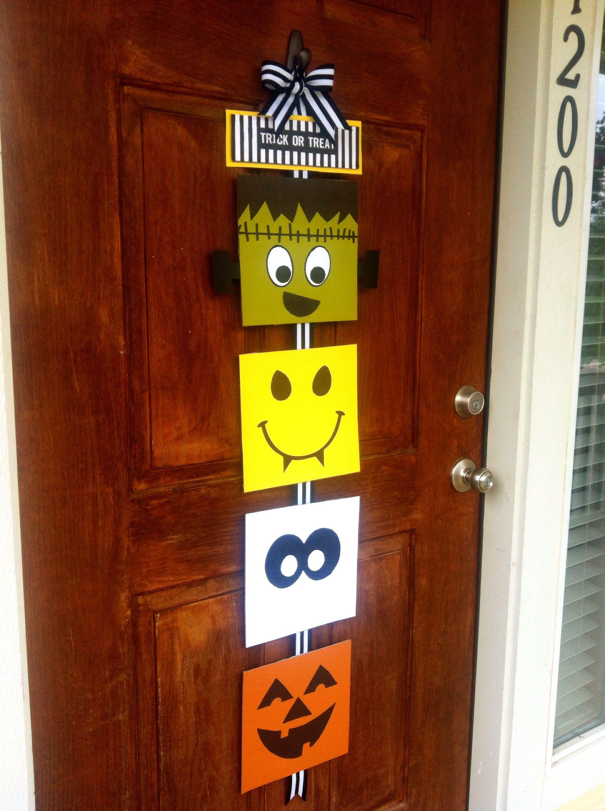Halloween Front Door Diy Decor Fall Halloween