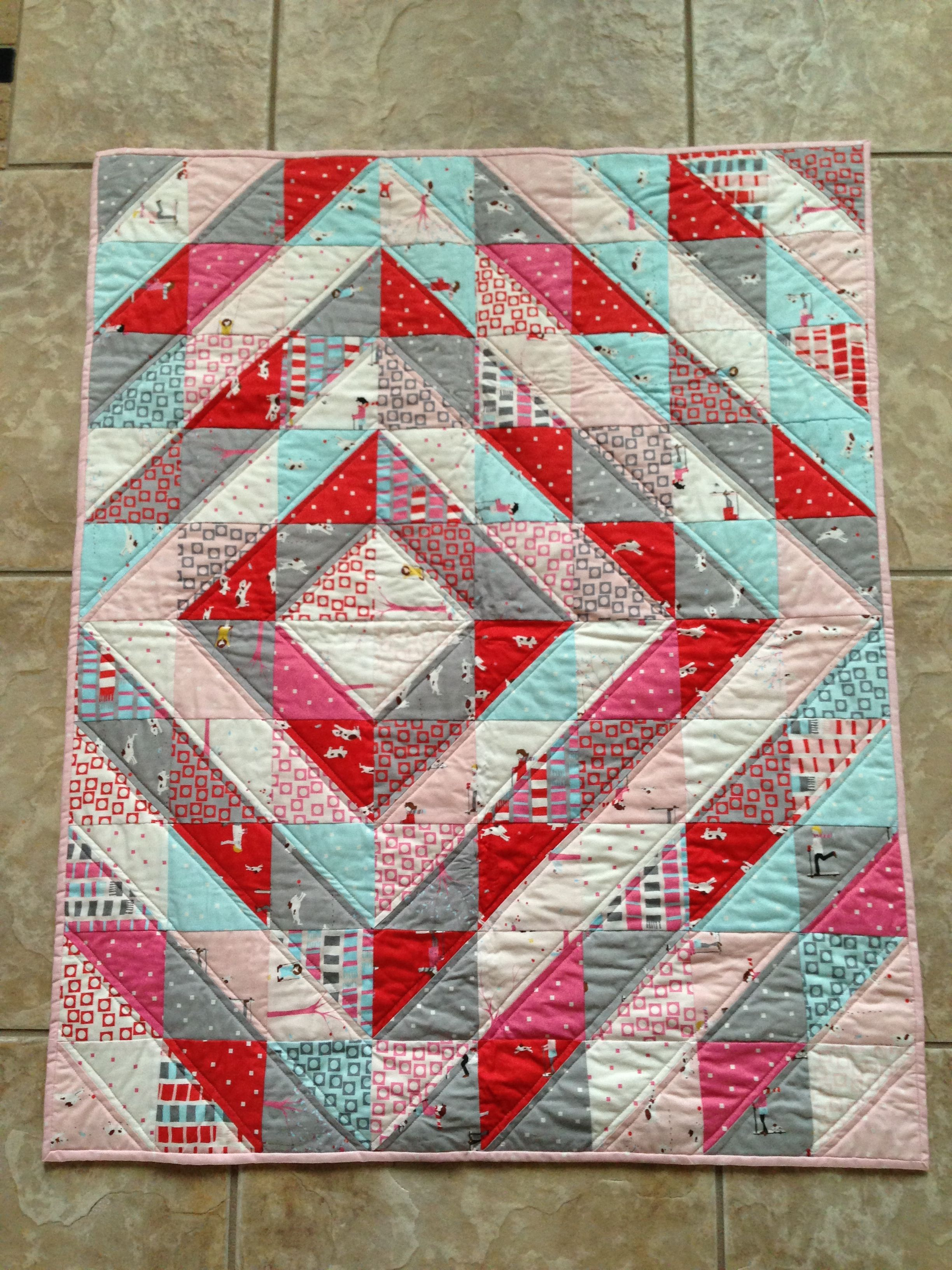 Quilting Design For Triangles : half square triangle quilt Quilting Pinterest