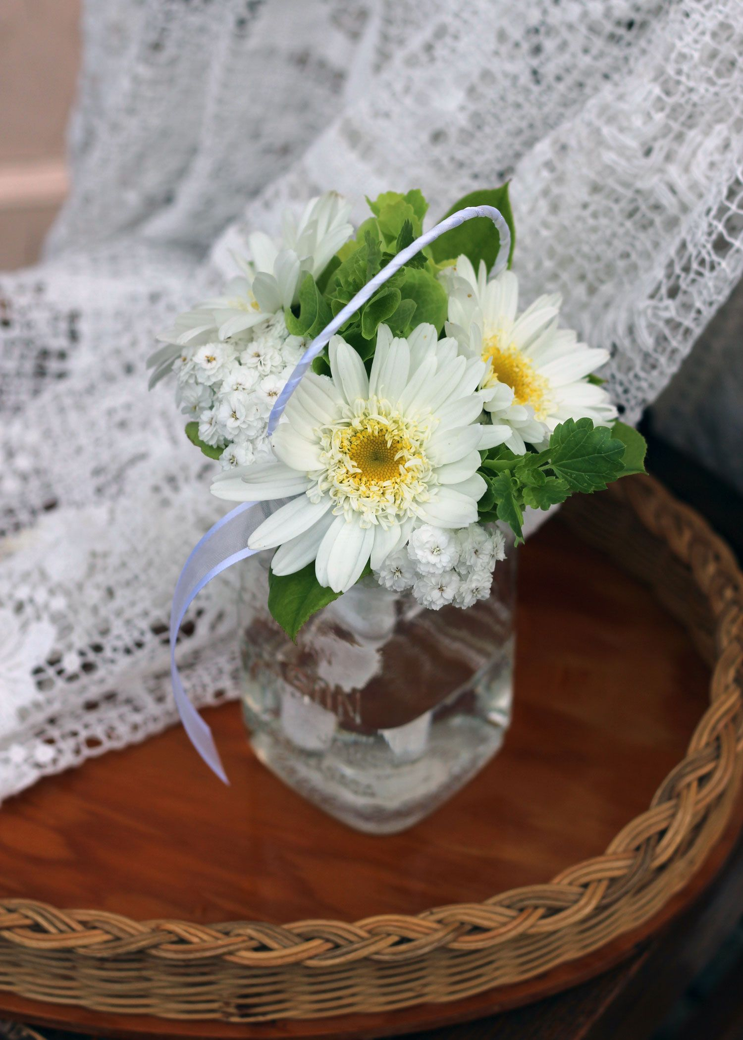 Flower girl posy august bridal bouquets pinterest