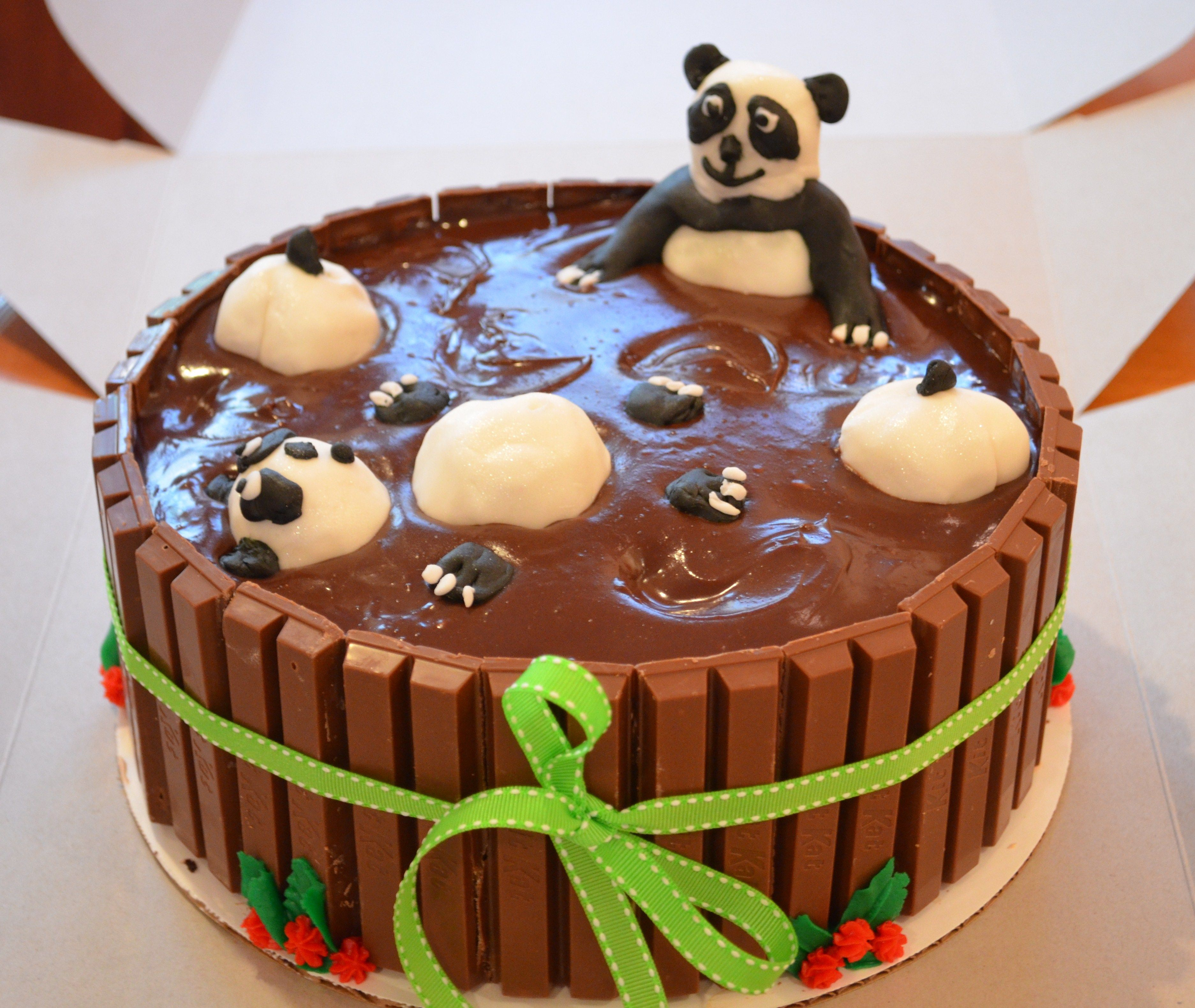 Layered Panda Bear Cake