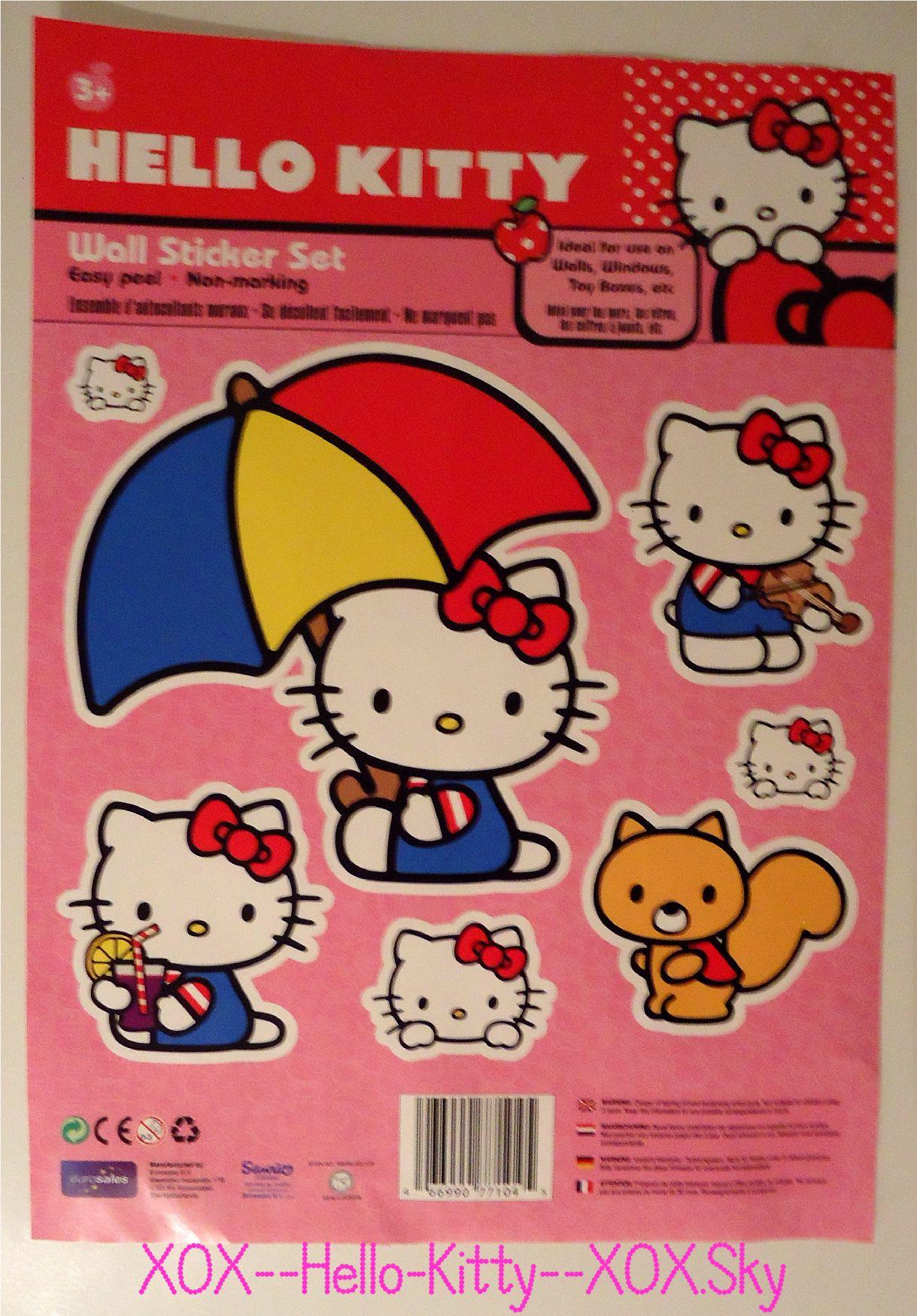 Hello Kitty Wall Stickers  hello kitty love her  Pinterest