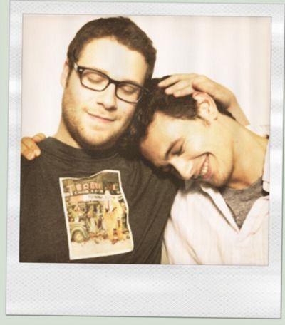 Seth Rogan & James Franco awww | idols | Pinterest