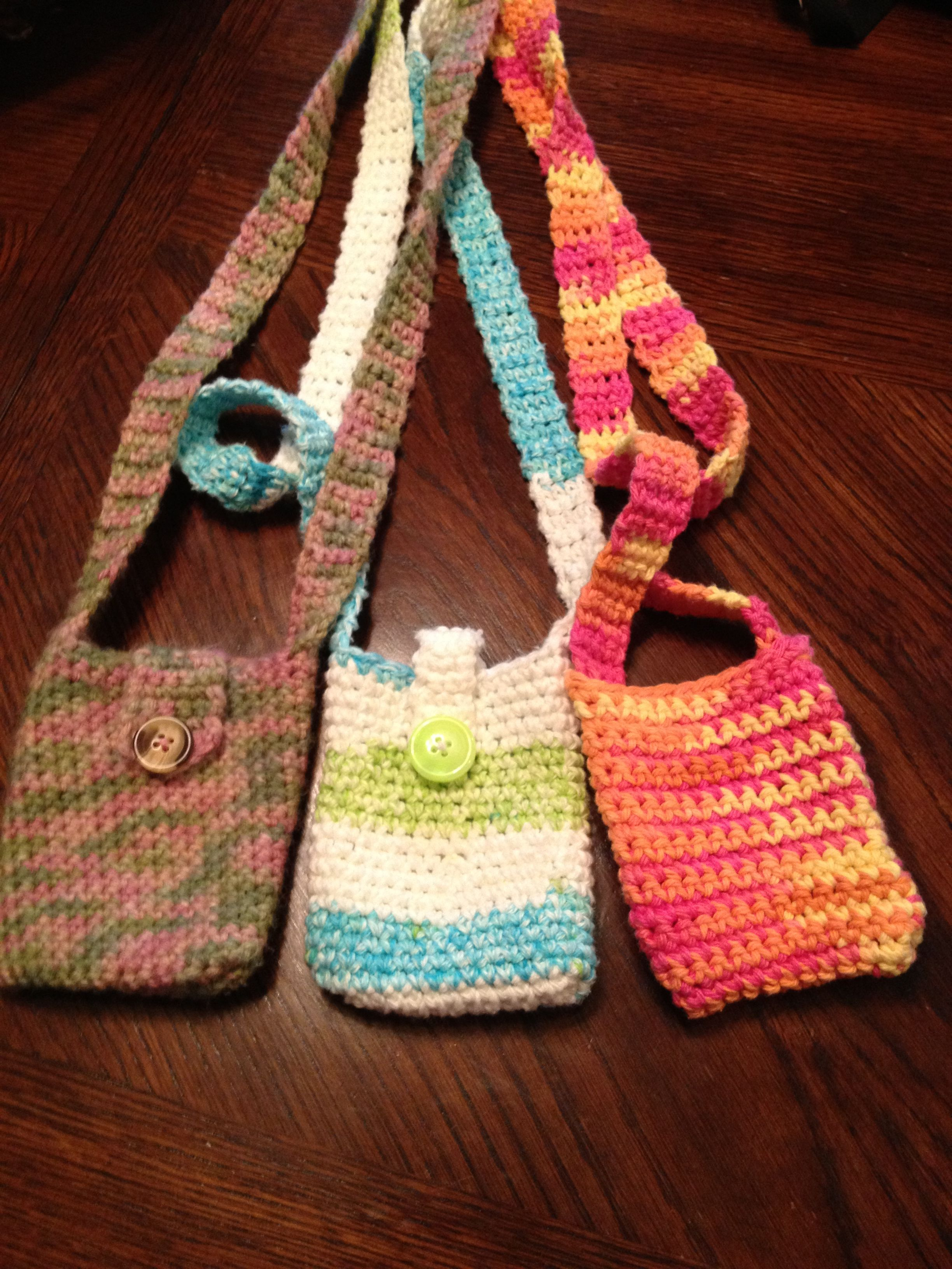 Crochet Cell Phone Purse : Crochet cell phone bag Crochet Pinterest