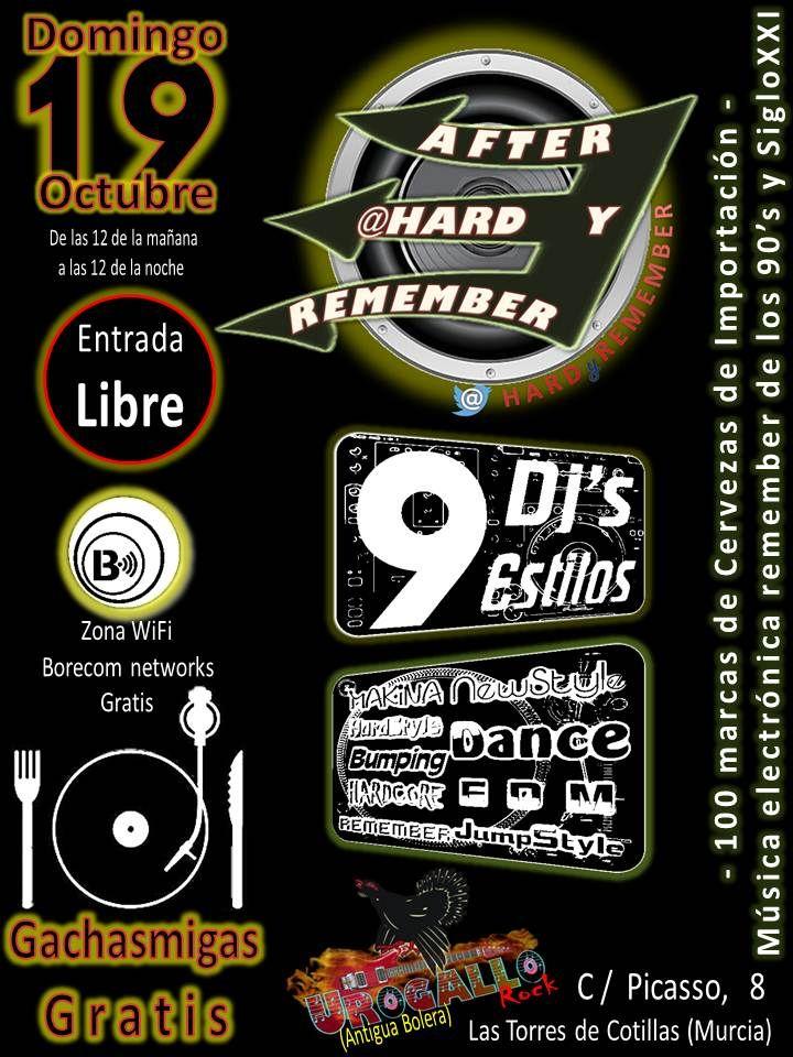 AFTER HARD Y REMEMBER OCTUBRE 2014 LAS TORRES DE COTILLAS