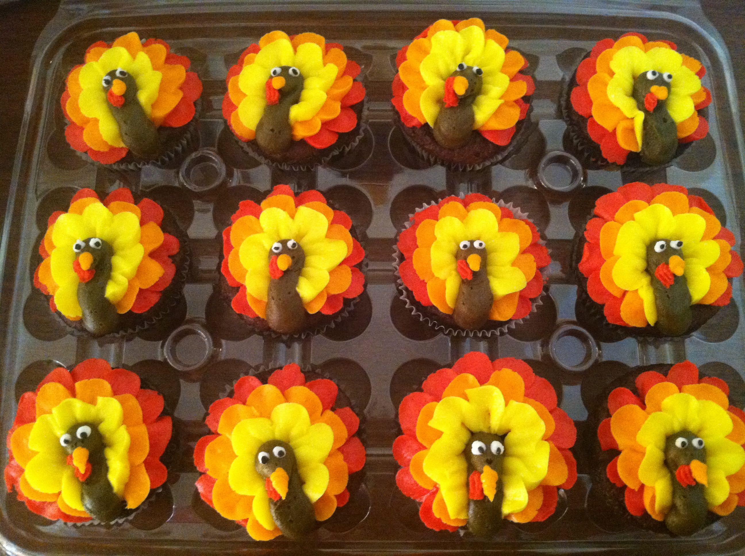 Cupcake Decorating Ideas Thanksgiving : Turkey Cupcakes Cake & Cupcake Ideas (decorating ...