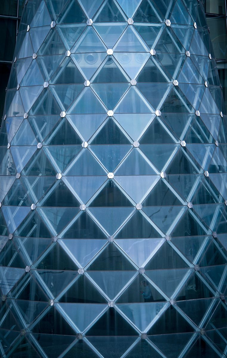 Glass Building- use of triangles | Glass Buildings | Pinterest