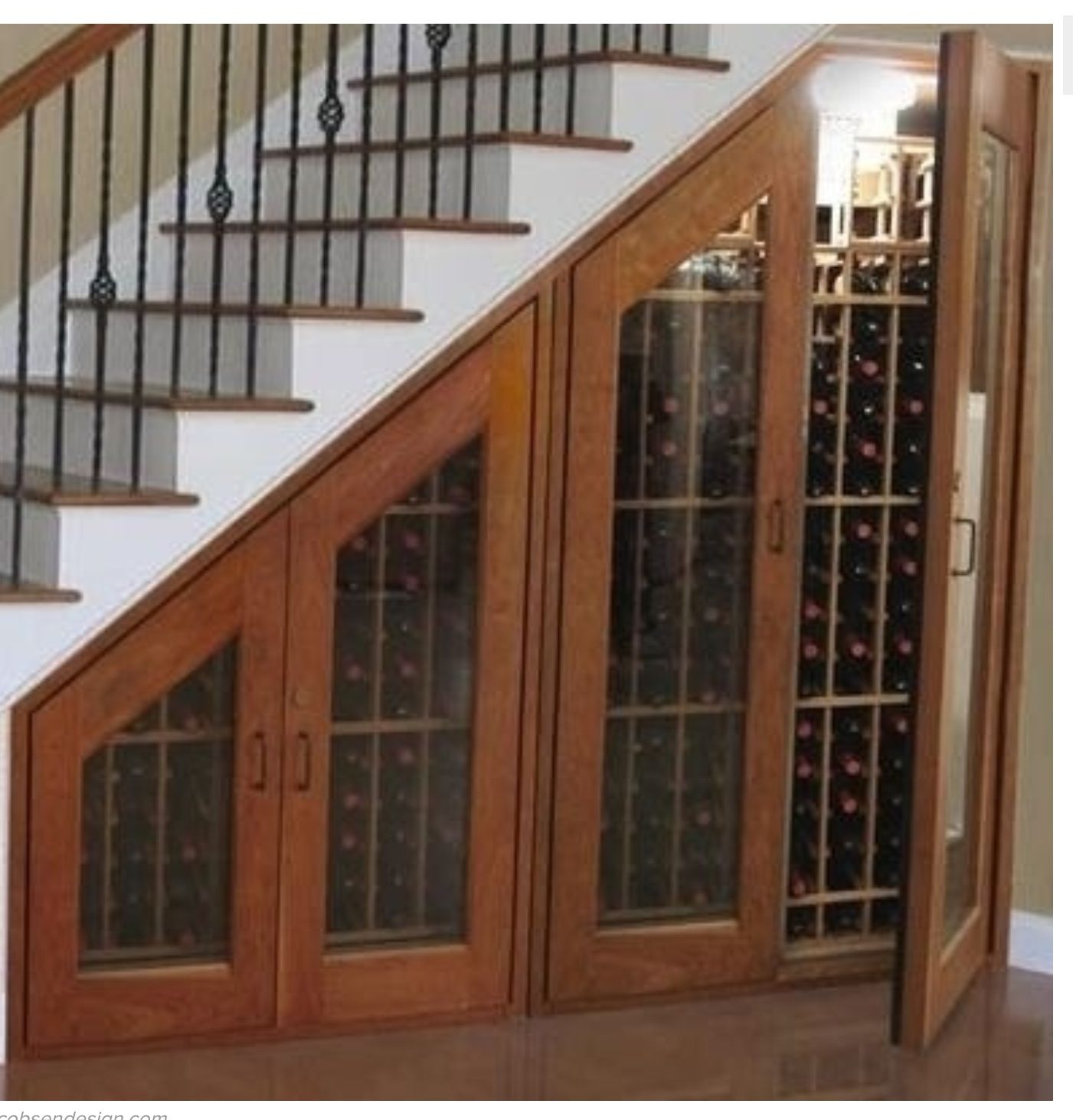 Wine Racks Under Stairs I Want This For The Home