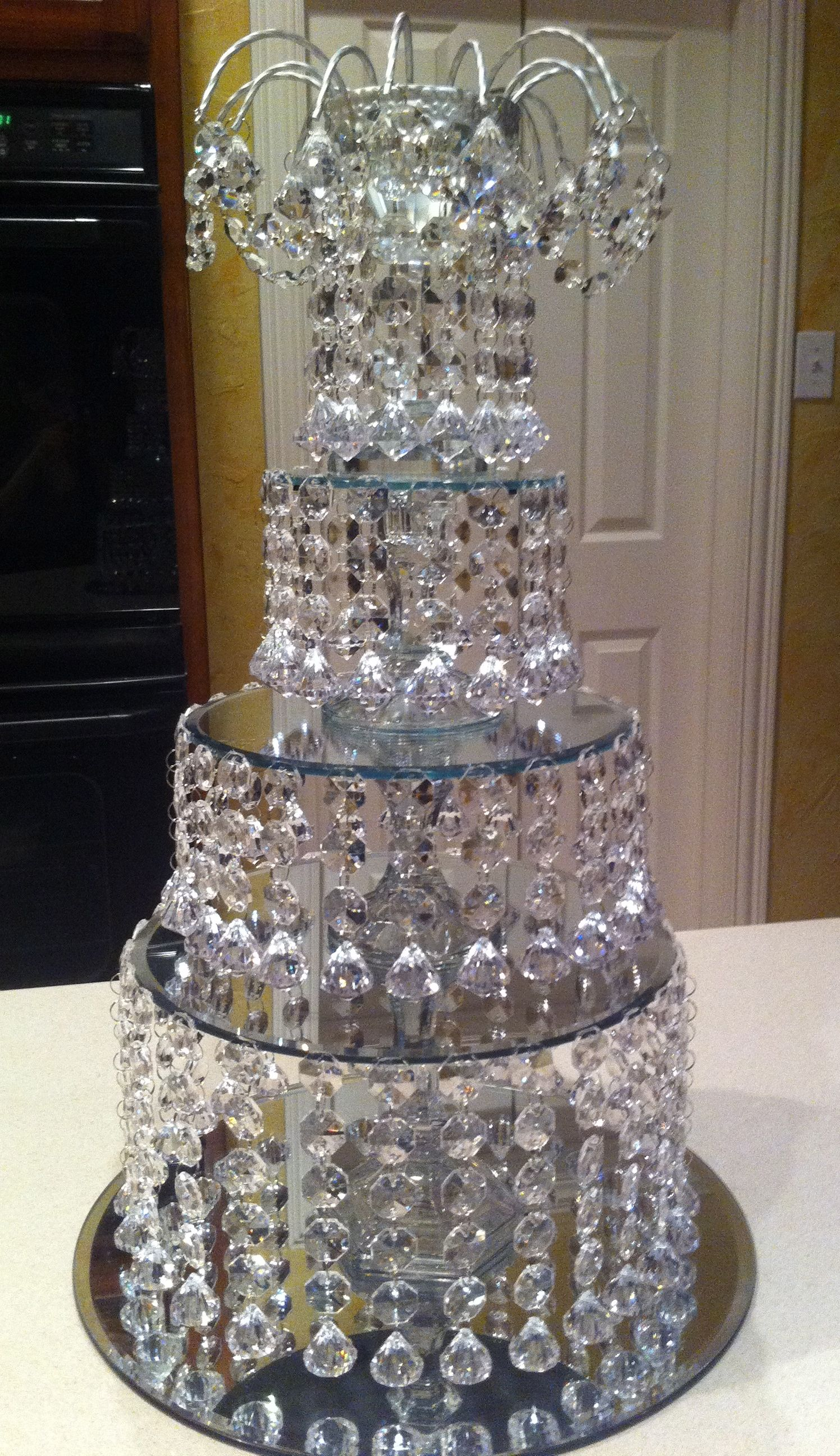 DIY Crystal Wedding Centerpiece