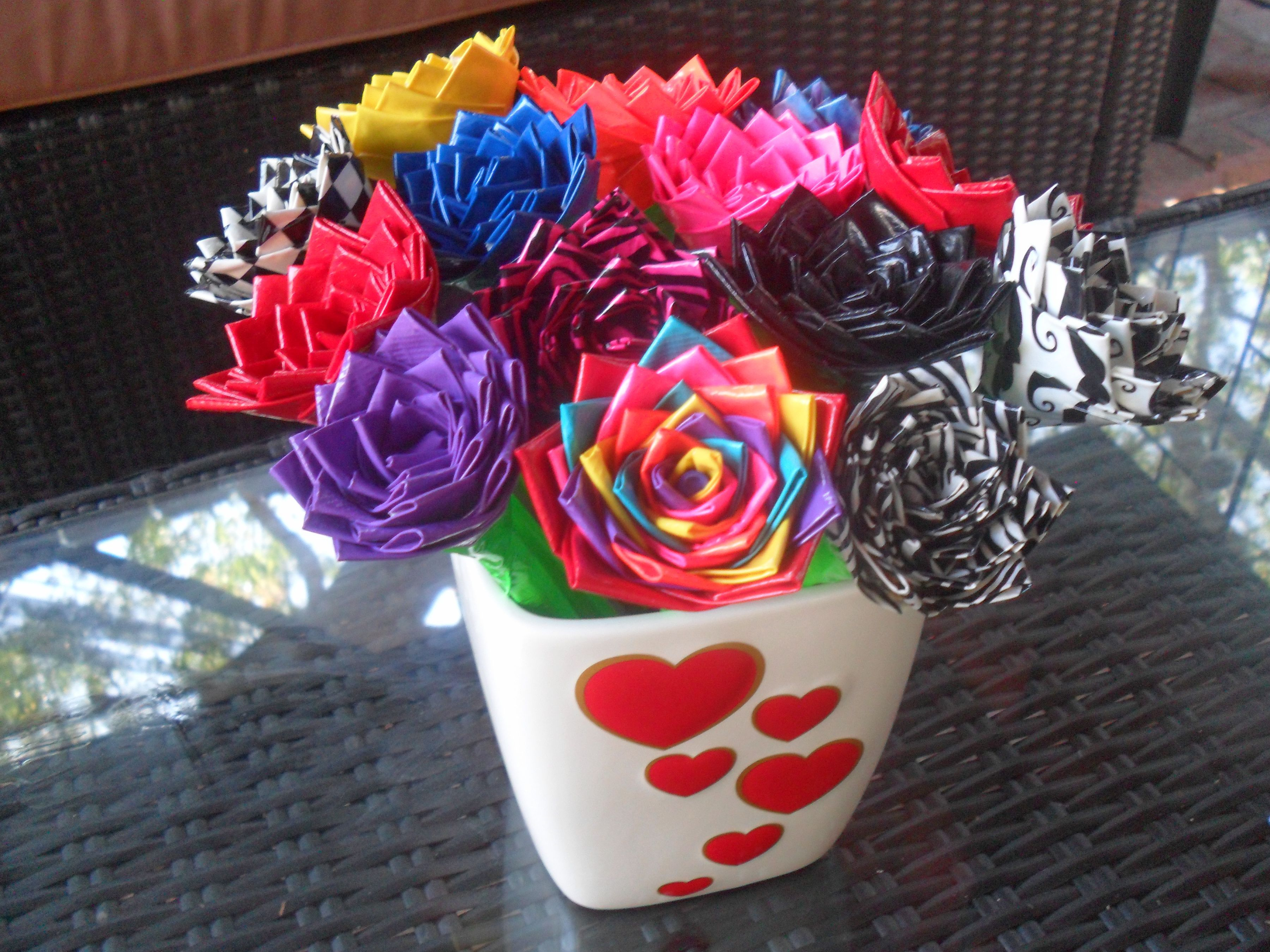 Duct tape flower pens even more everything pinterest