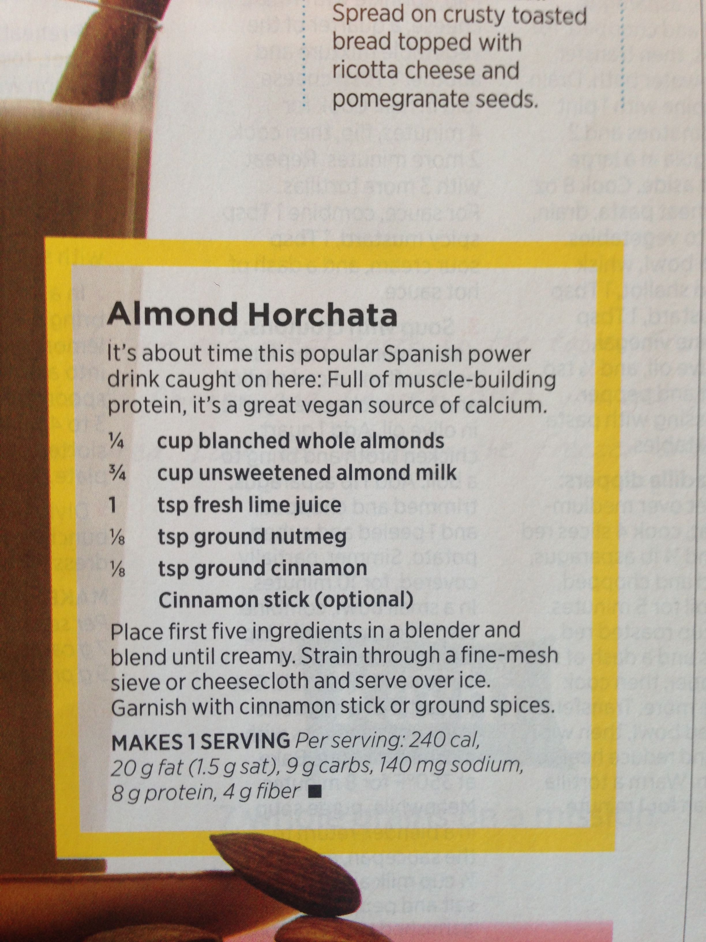 Almond Horchata | Give me cavities or give me bleh | Pinterest