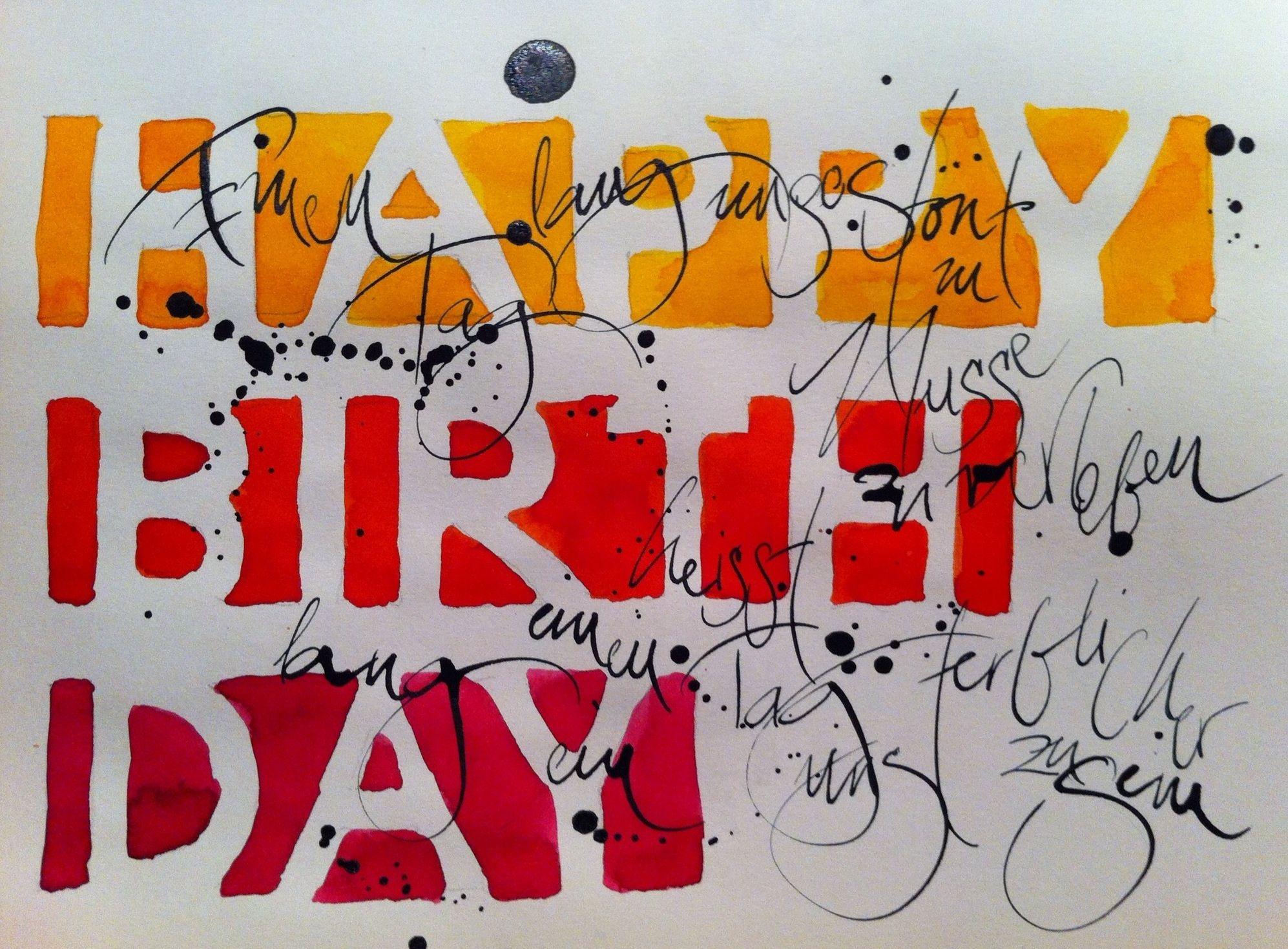 Happy Birthday Calligraphy Pinterest