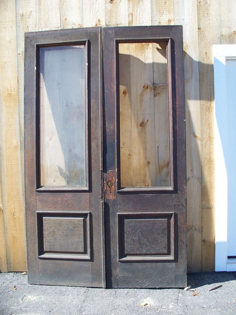 Salvaged door salvage yard doors pinterest for External double doors