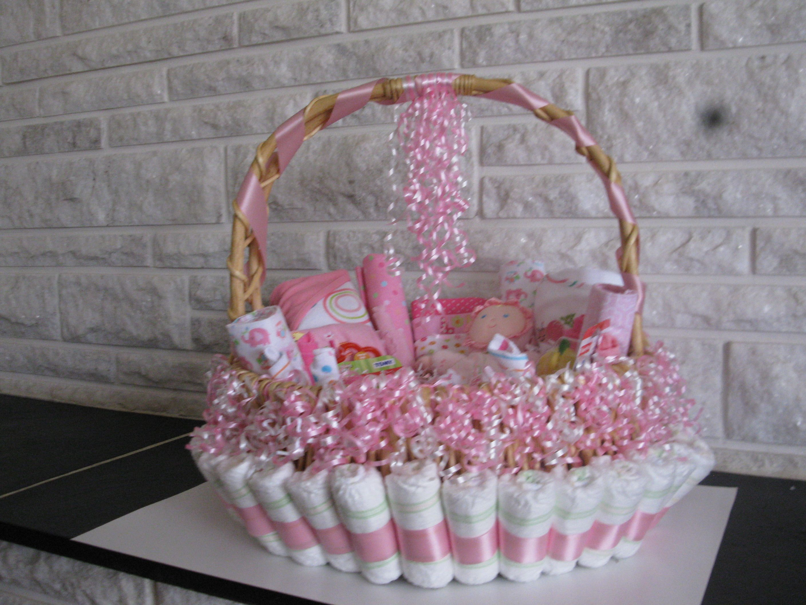 Baby Gift Basket Diapers : Diaper basket baby shower ideas