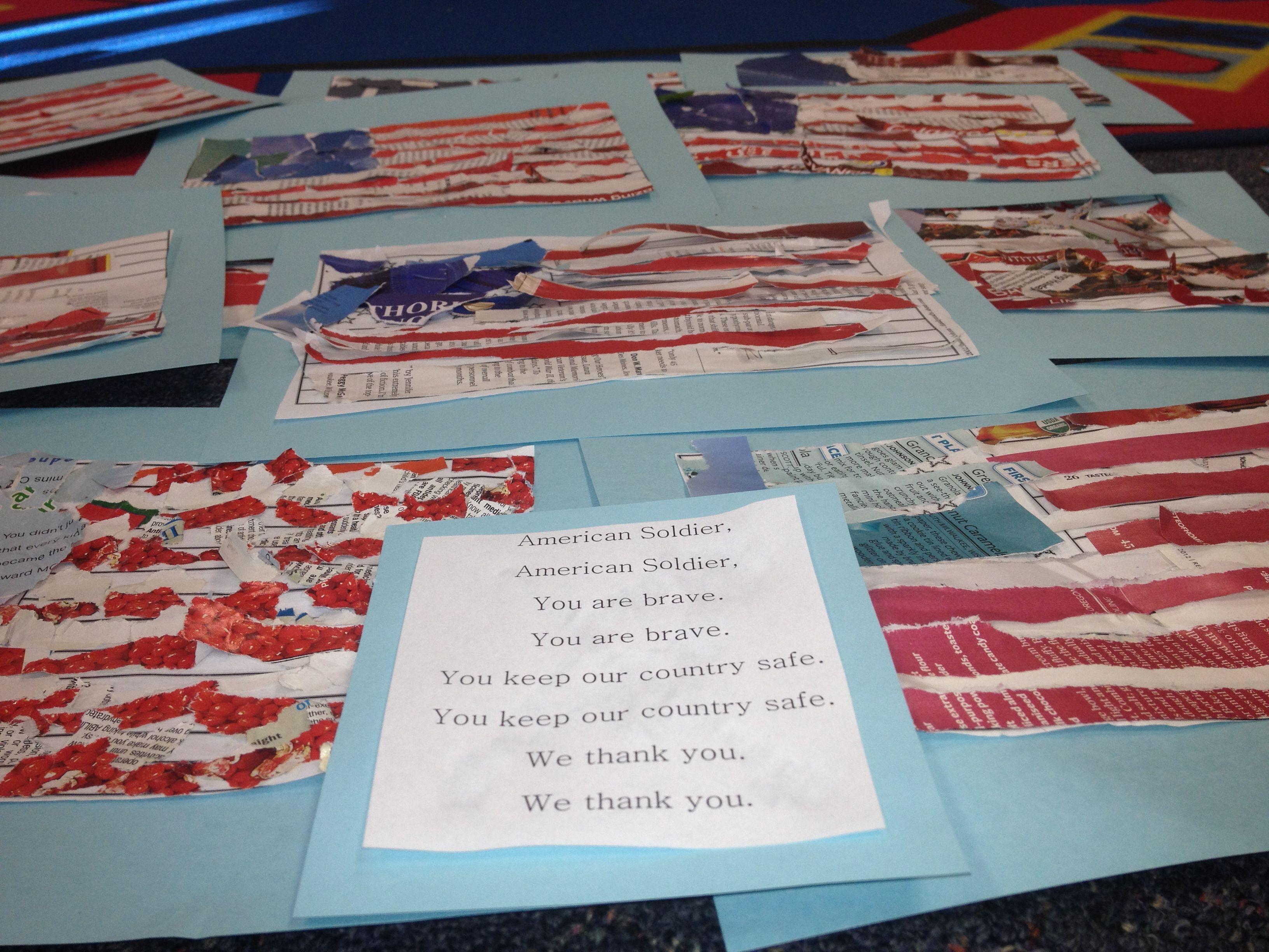veterans day craft ideas folded flag