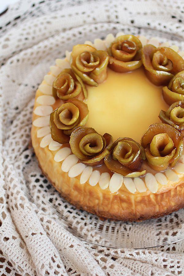 Apple & Custard Tart   食べたい   Pinterest