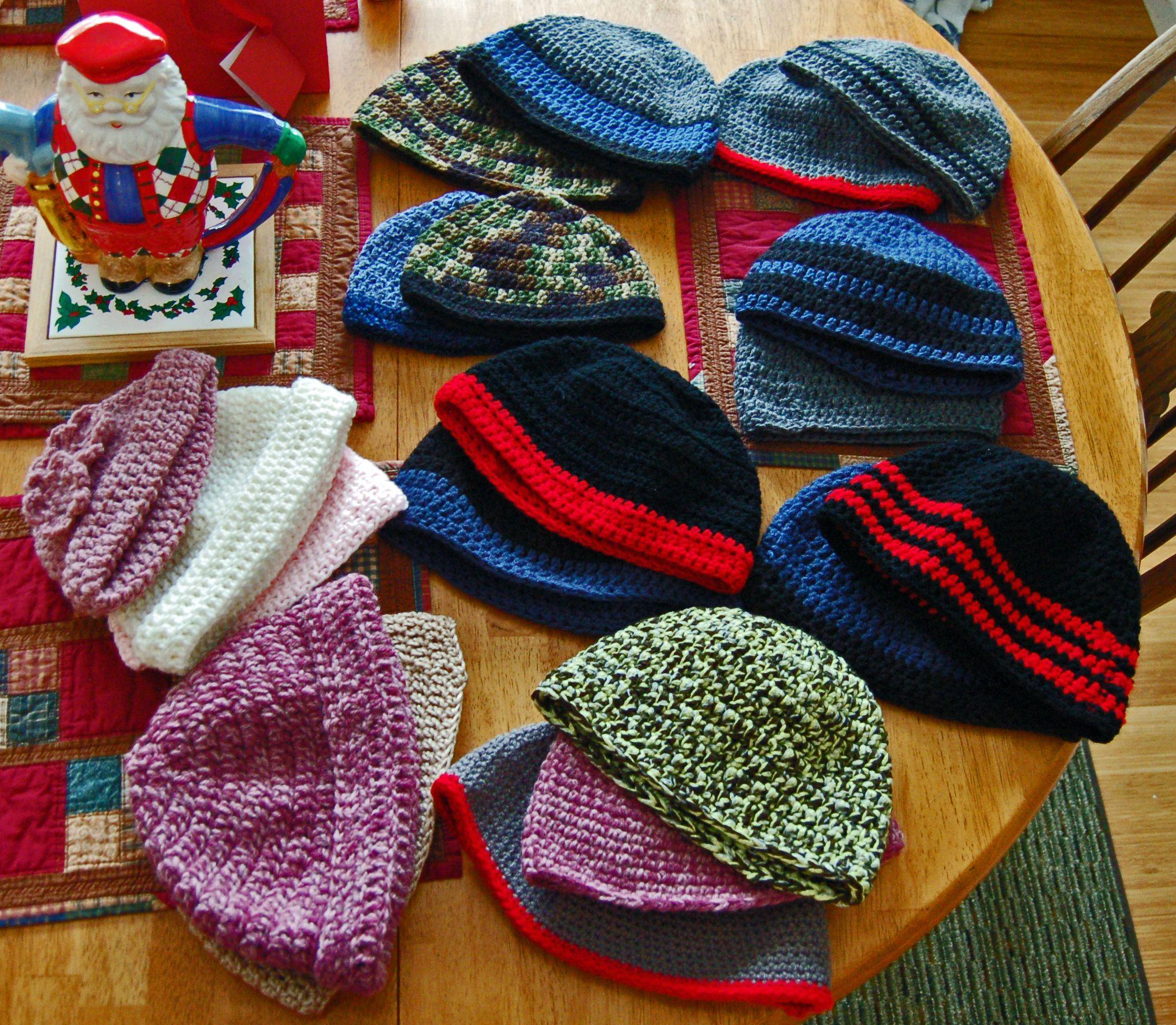 Crocheted Skull Caps Crochet Pinterest