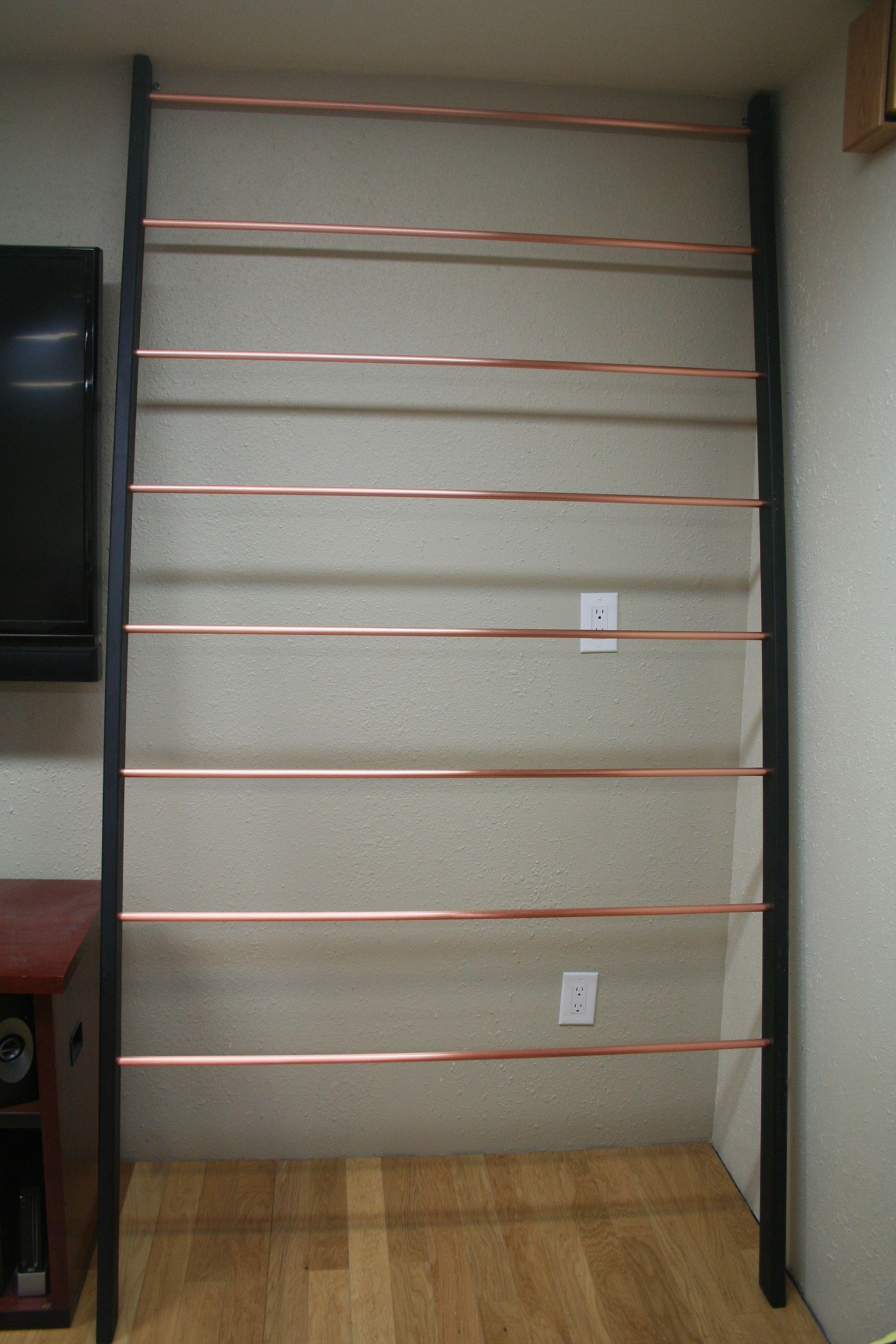 Ladder Quilt Rack unloaded Someday Pinterest