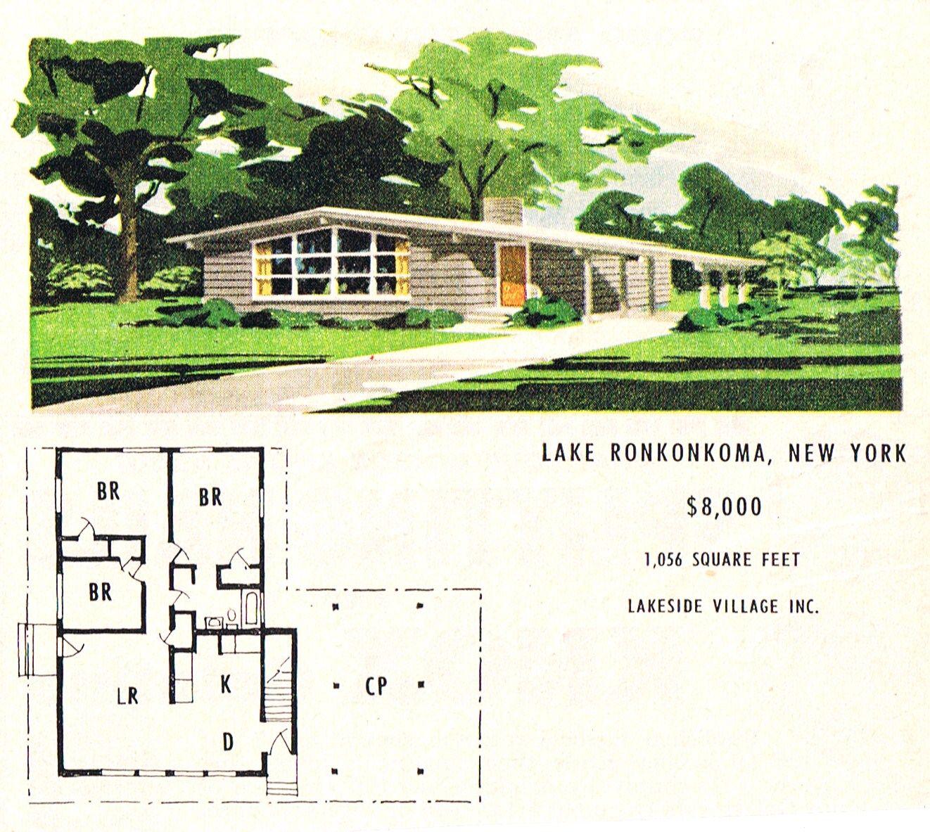 Lakeside Village MCM Ranch Mid Century Modern Design Artwork