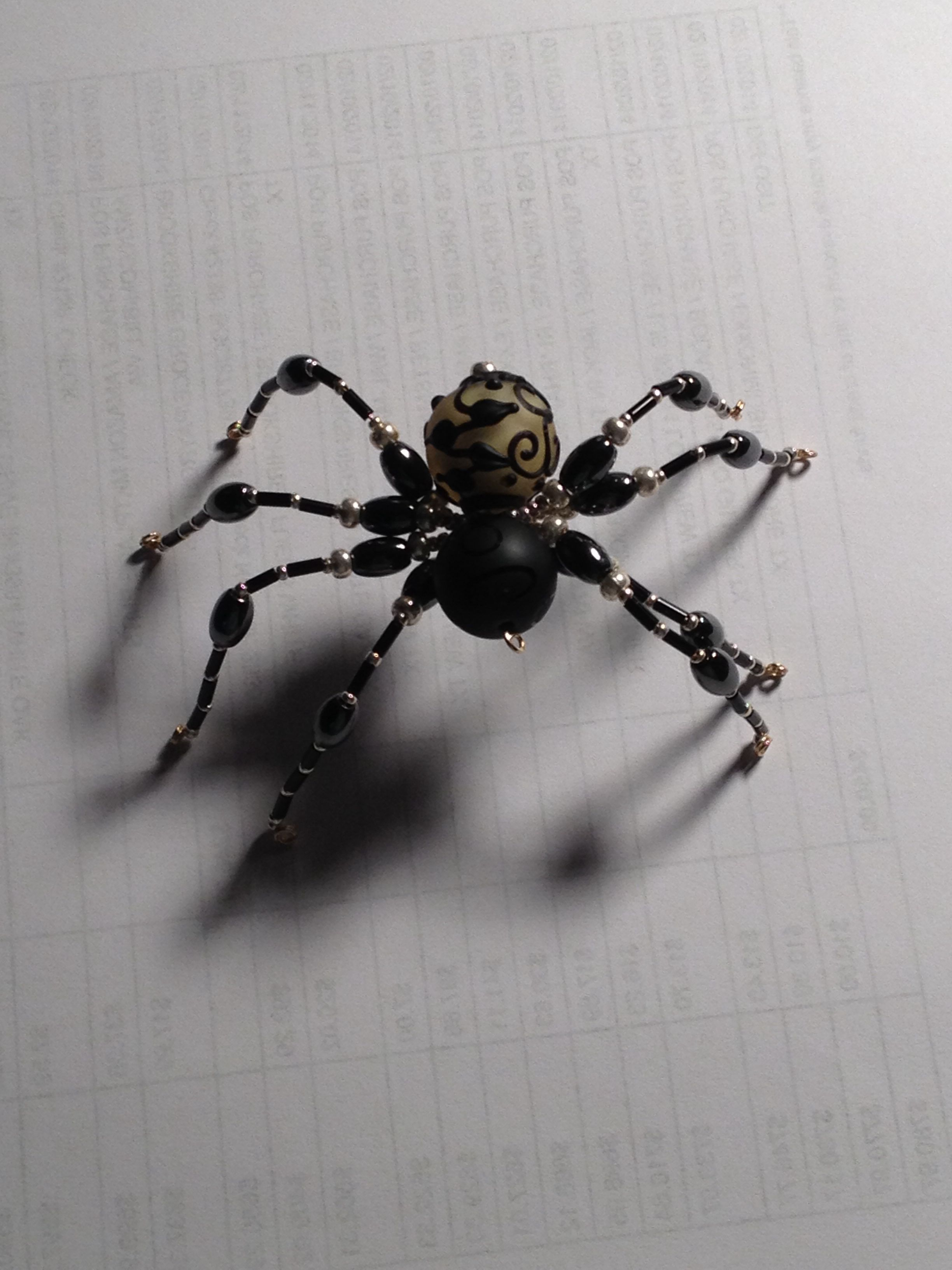 beaded spider bead animals