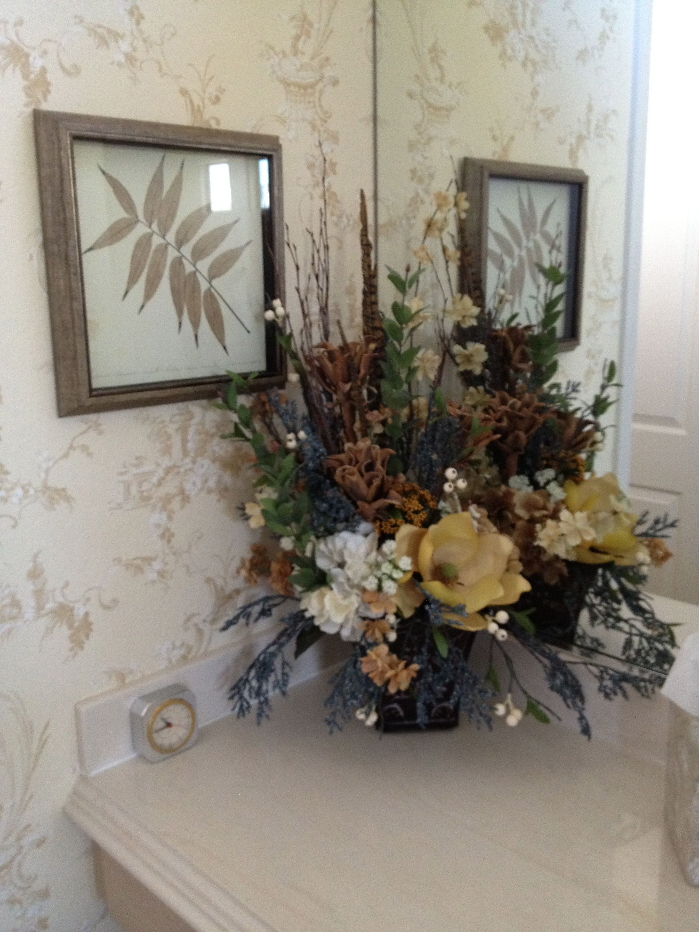 for the bathroom silk floral arrangements pinterest
