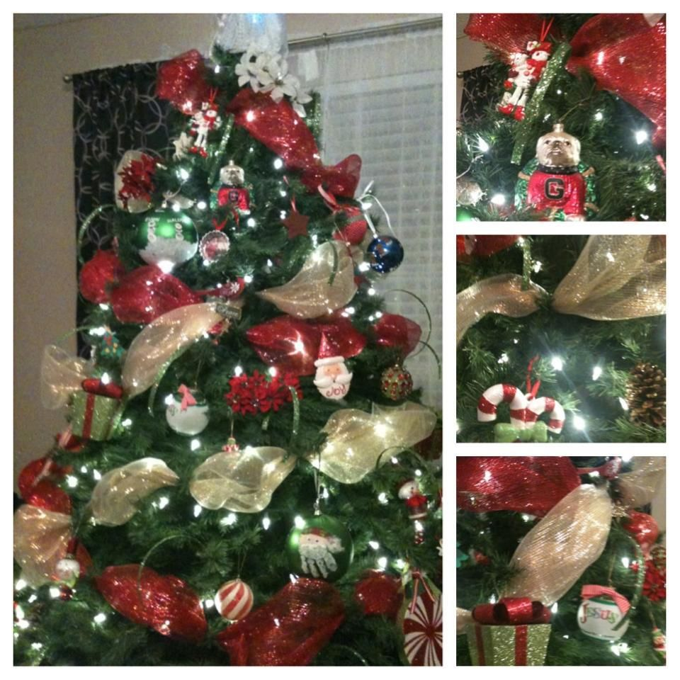 How To Decorate Christmas Tree With Poly Mesh Ribbon : Christmas tree mesh ribbon ho holidays