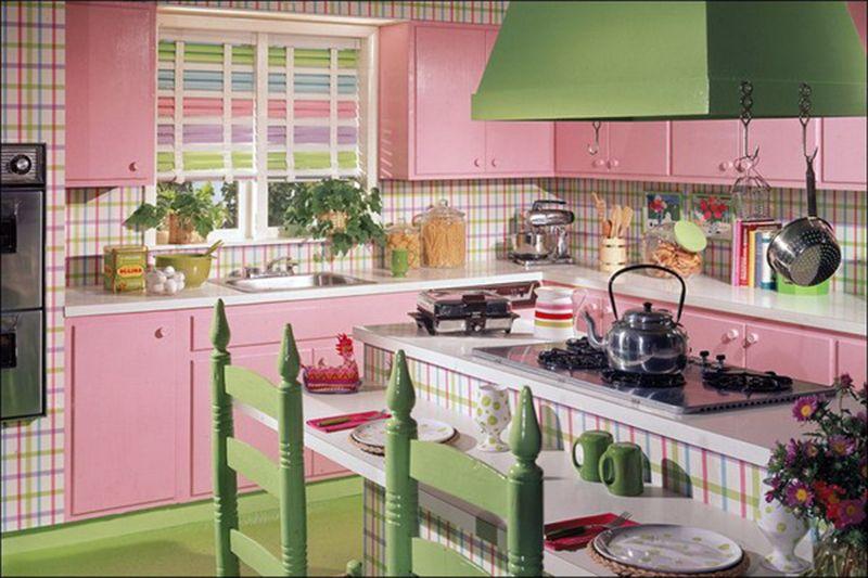 Vintage Kitchen Design Ideas  Everything pink  Pinterest