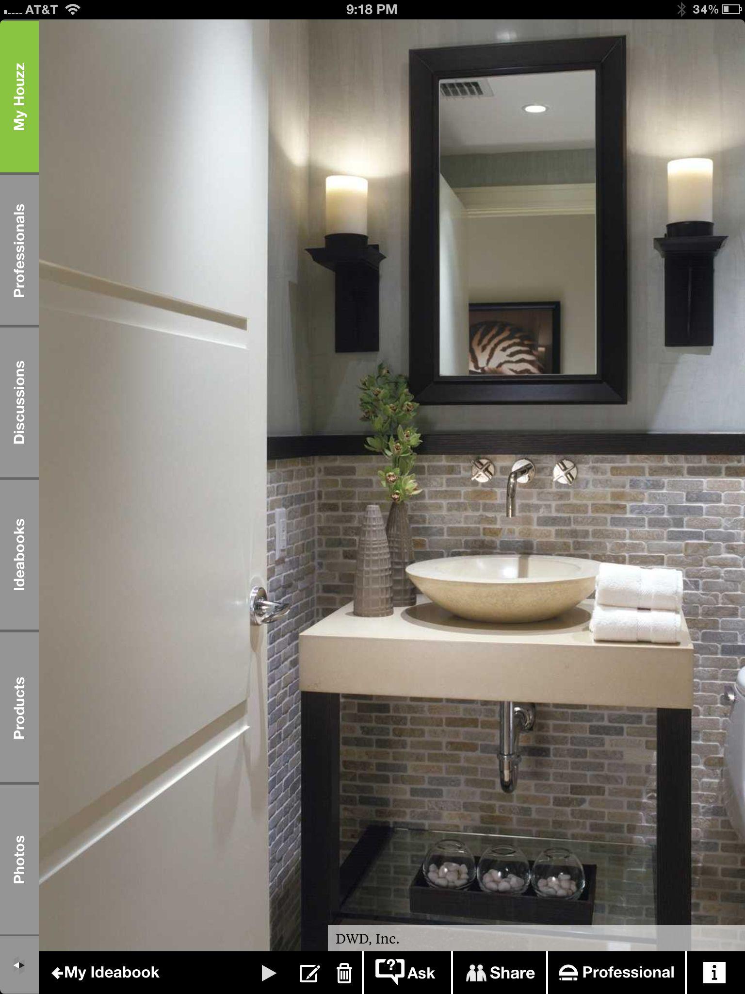 Downstairs Bathroom Tile Decorating Renovation Ideas