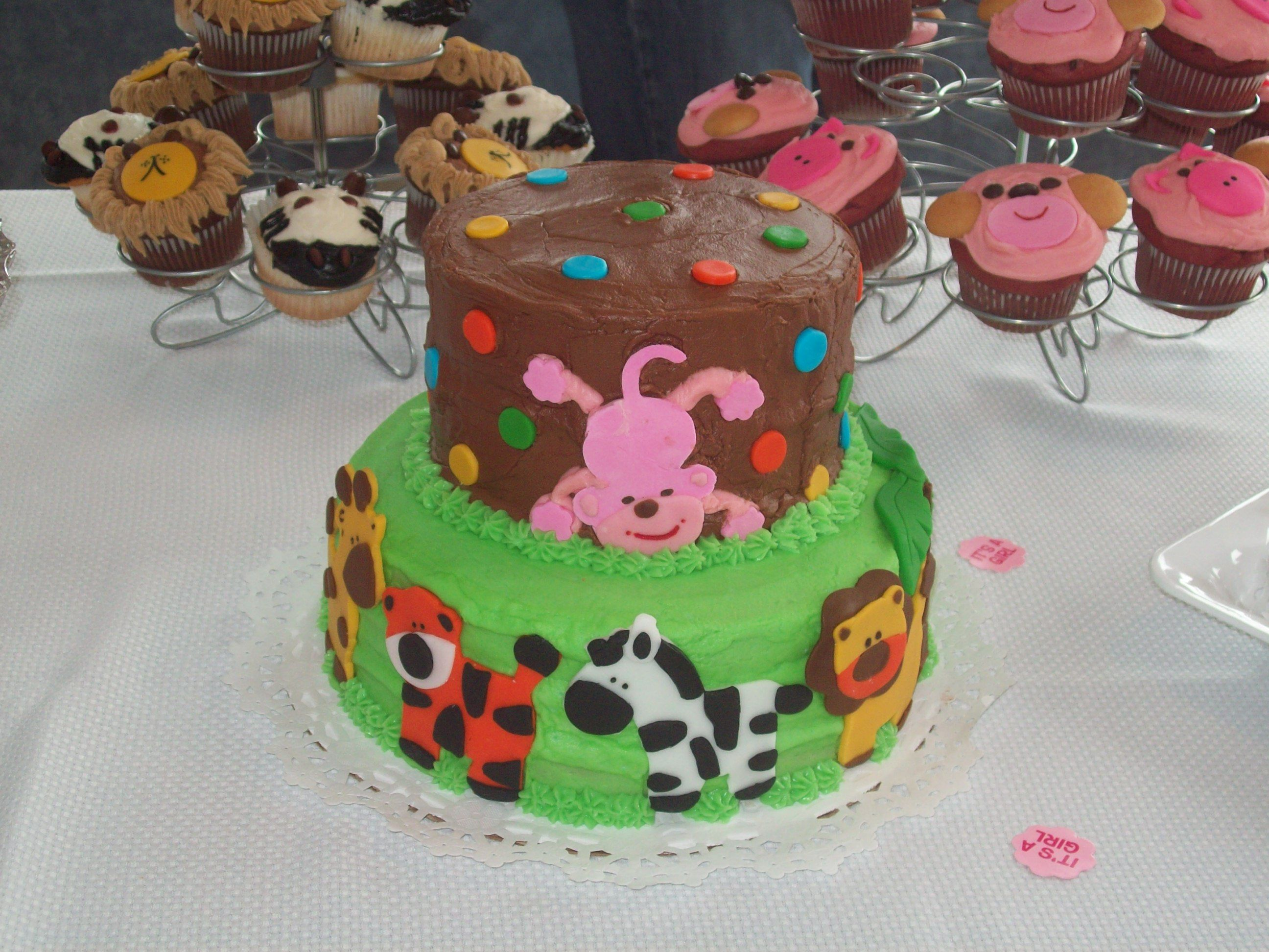 zoo animal baby shower cake funny farm and childrens cakes