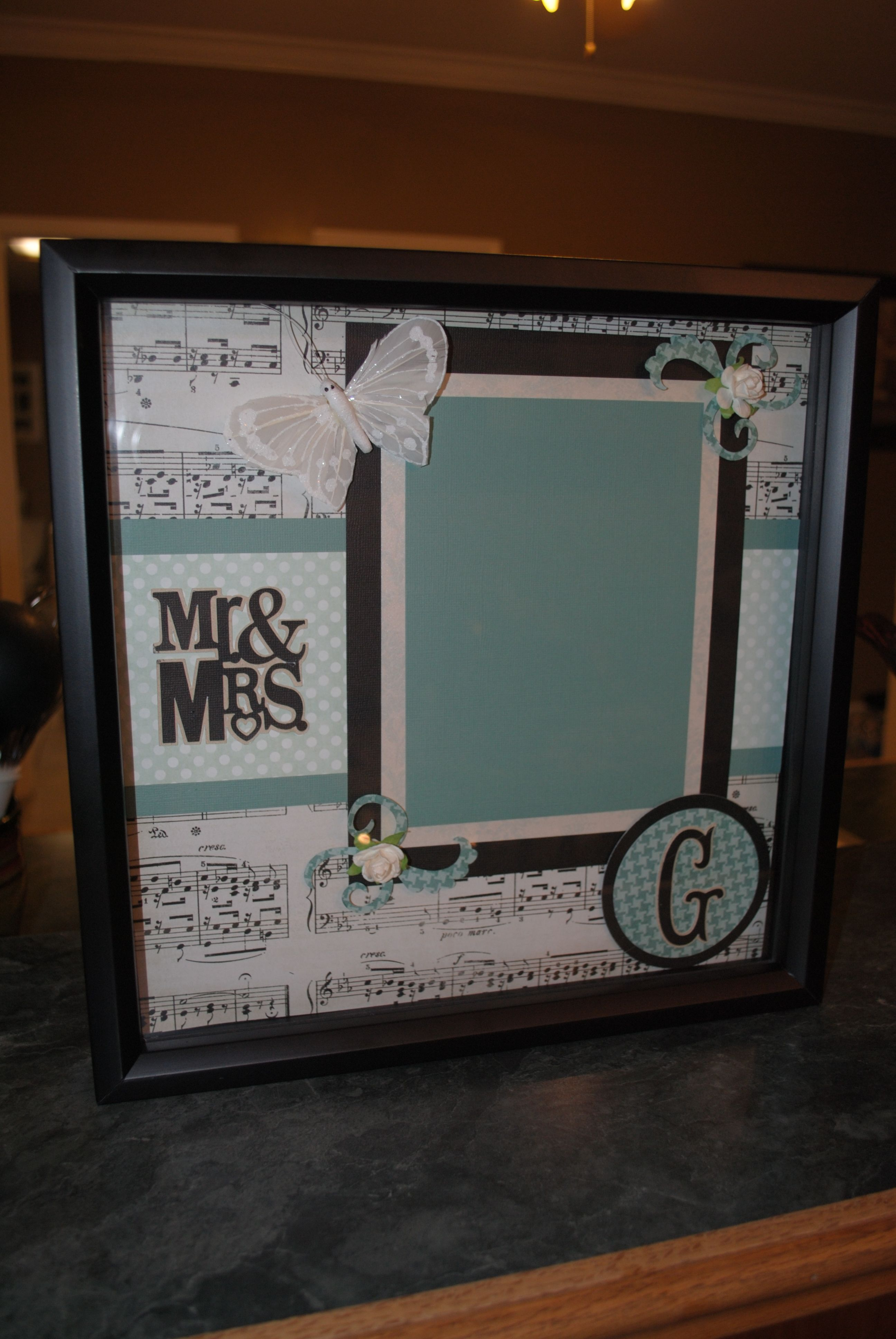 shadow box for wedding gift Everything Pink and Black Pinterest