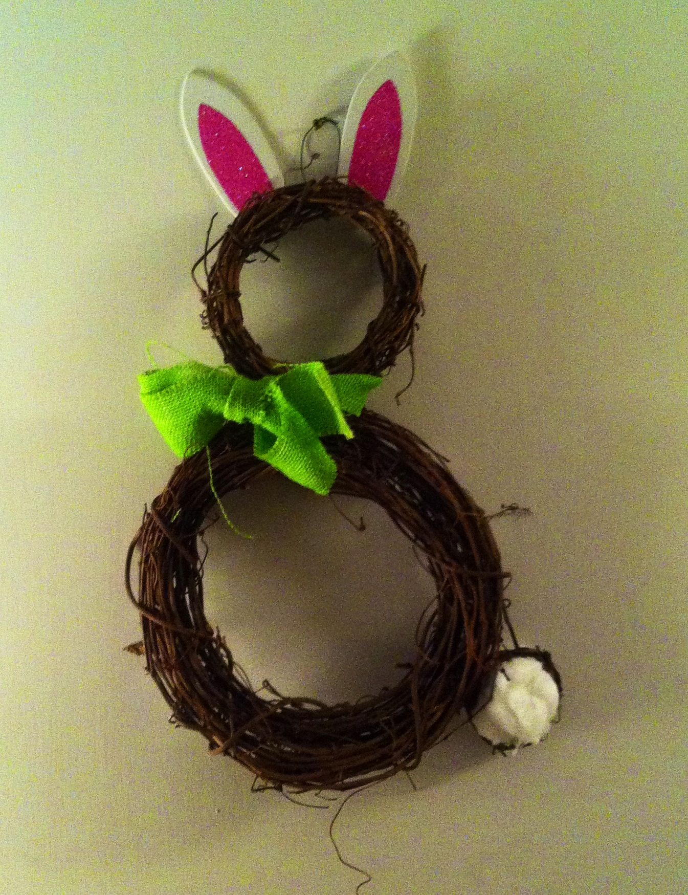 Bunny made out of grape vine wreaths craft ideas pinterest for Vine craft ideas
