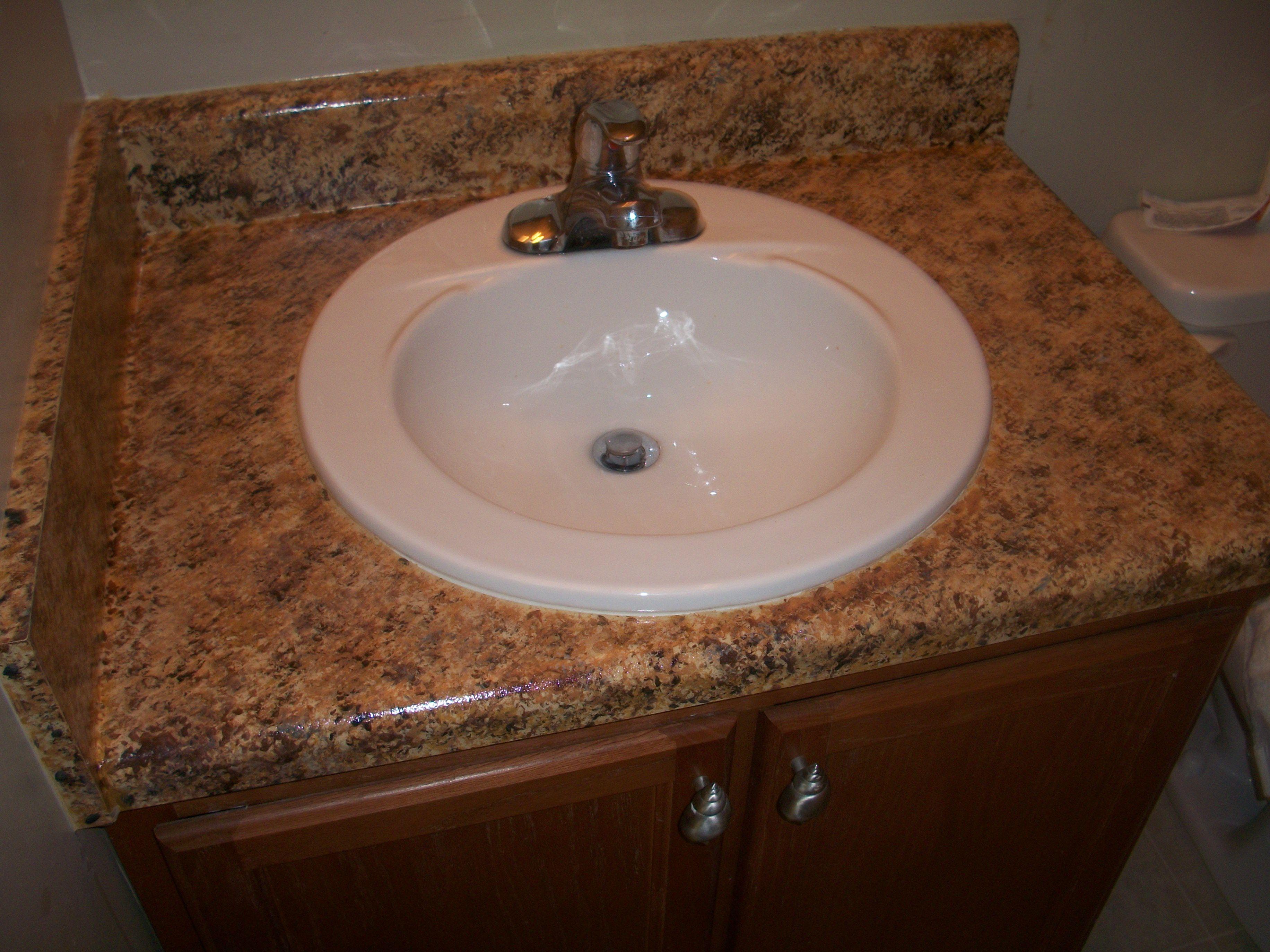 Faux Granite Countertop Paint Diy : granite countertops