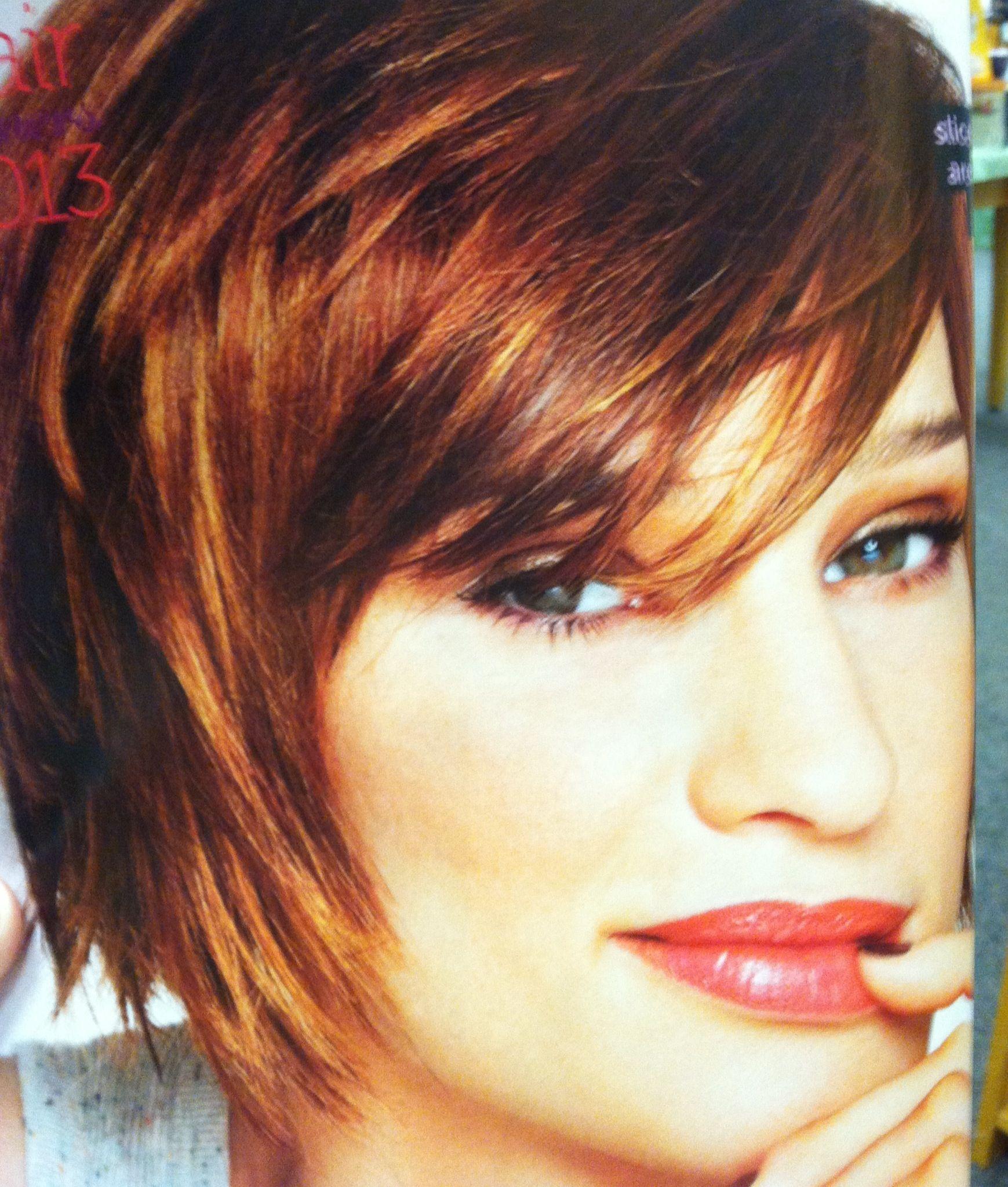 Copper Highlights Hair Amp Beauty Pinterest