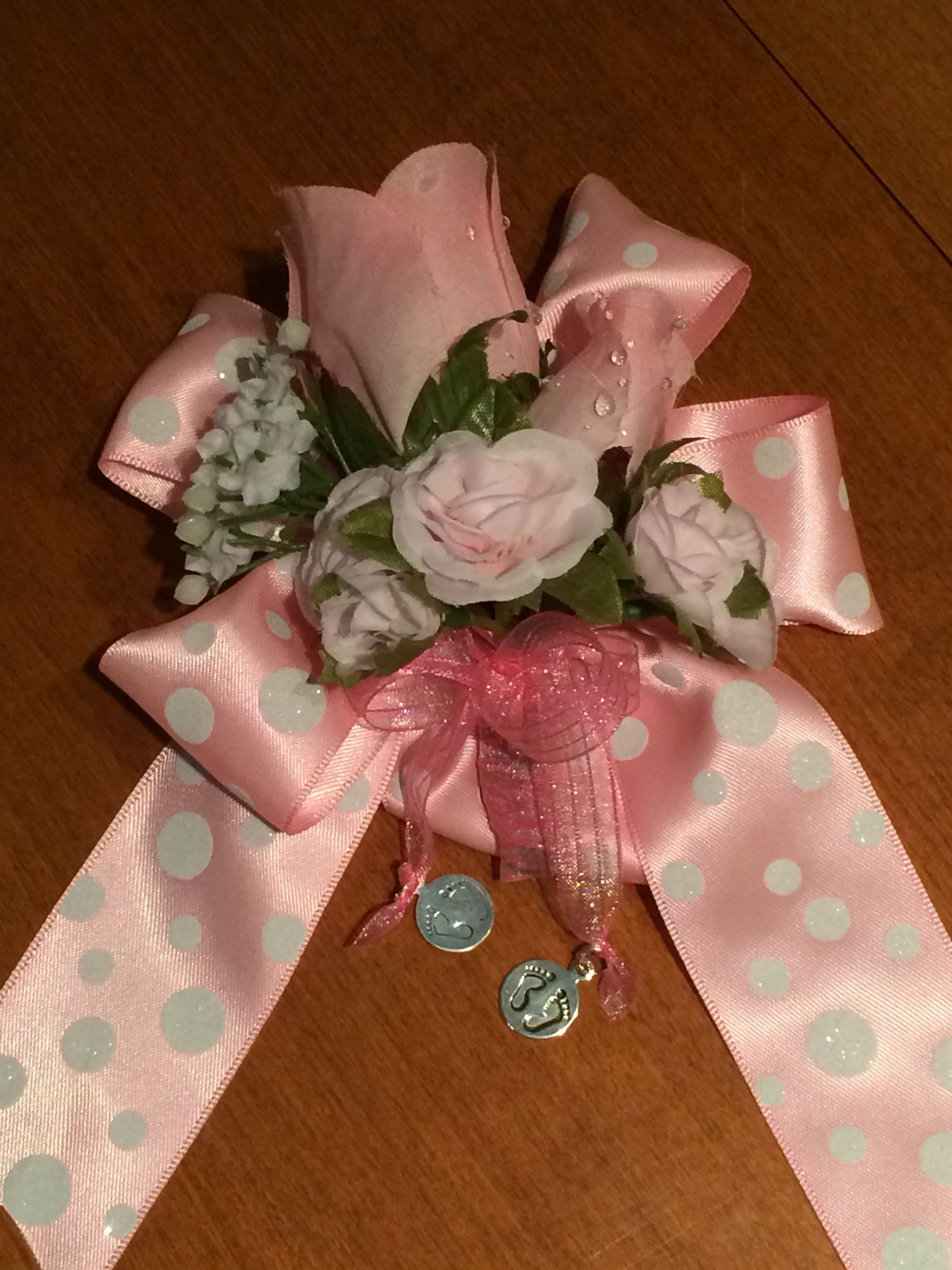 diy baby shower corsage baby shower girl ideas