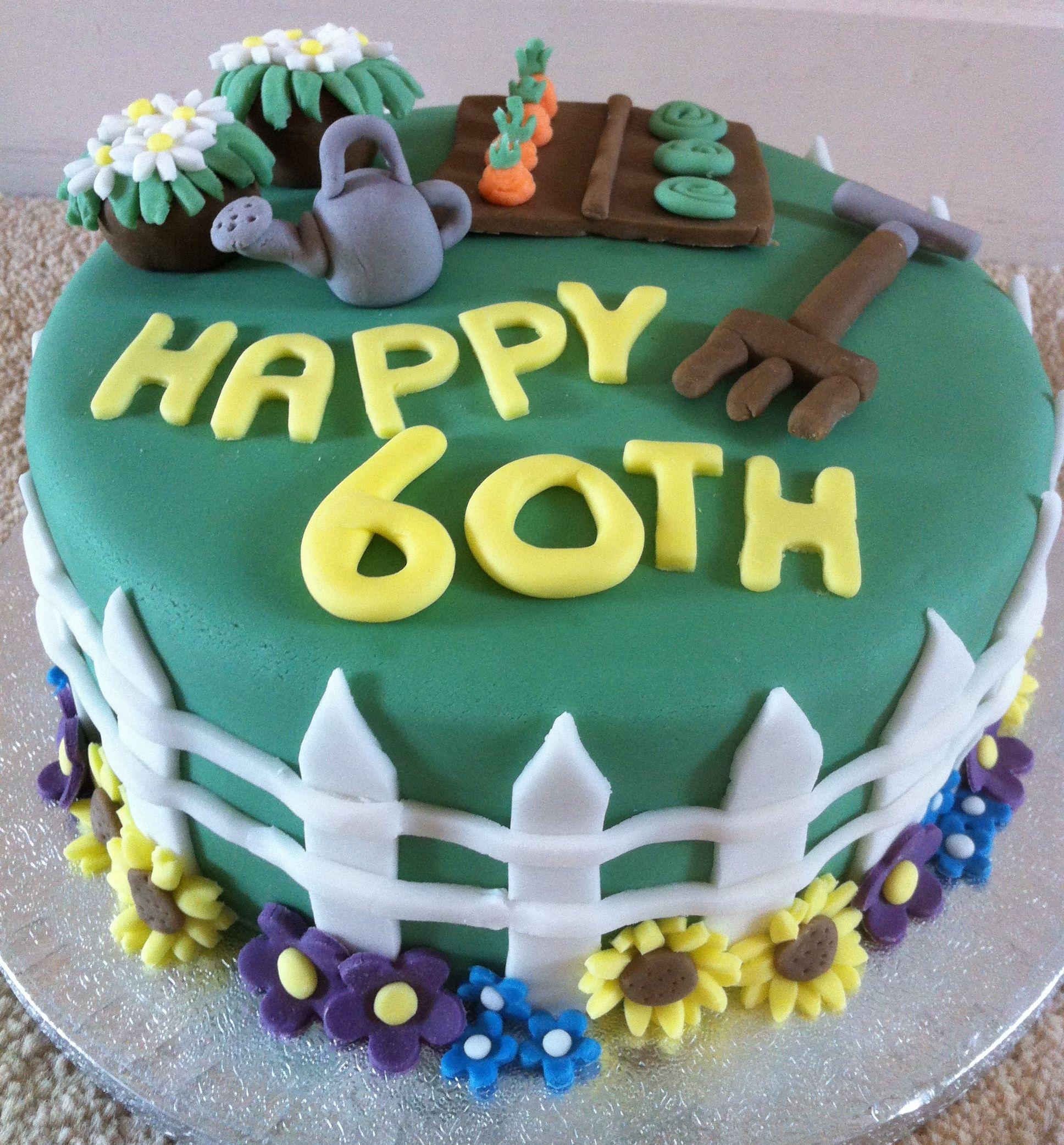 60th Birthday Gardening Cake Cake Ideas Pinterest