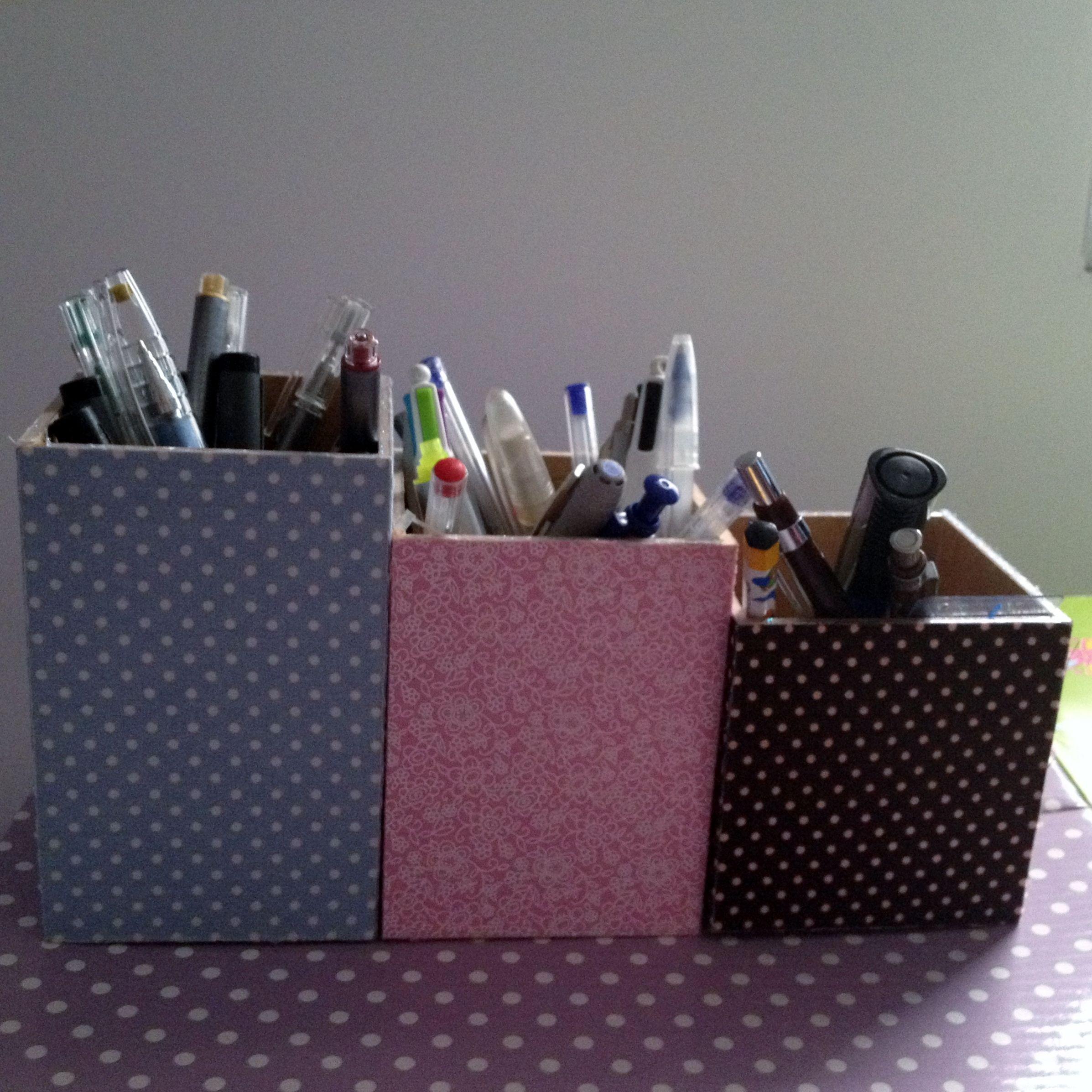 Porta lápis de madeira forrado com tecido. #849437 2394x2394