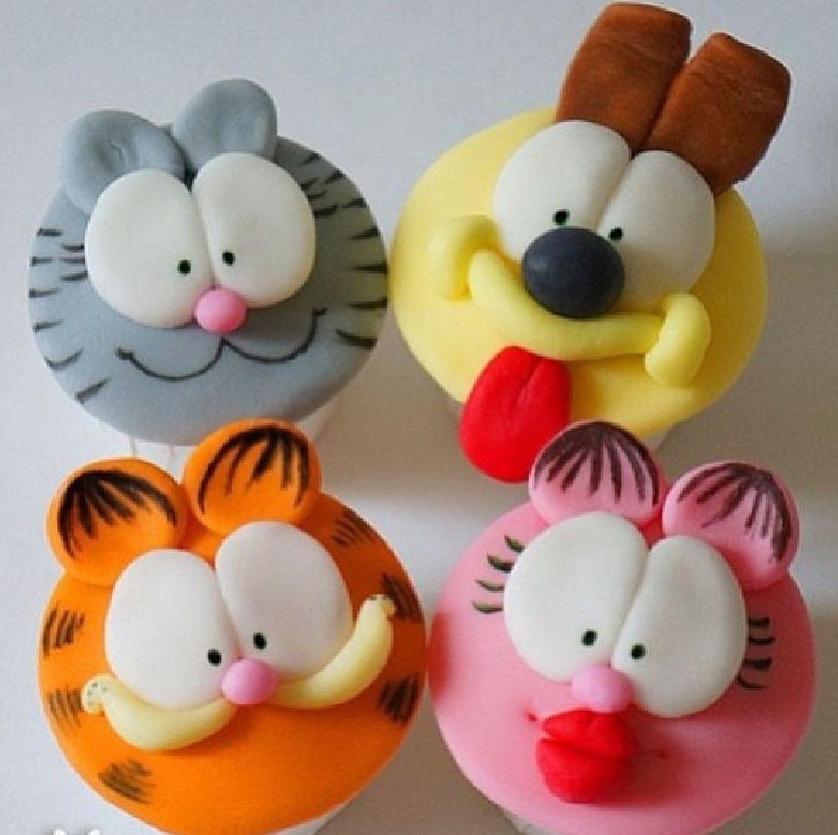 Garfield cupcakes | Cakes | Pinterest