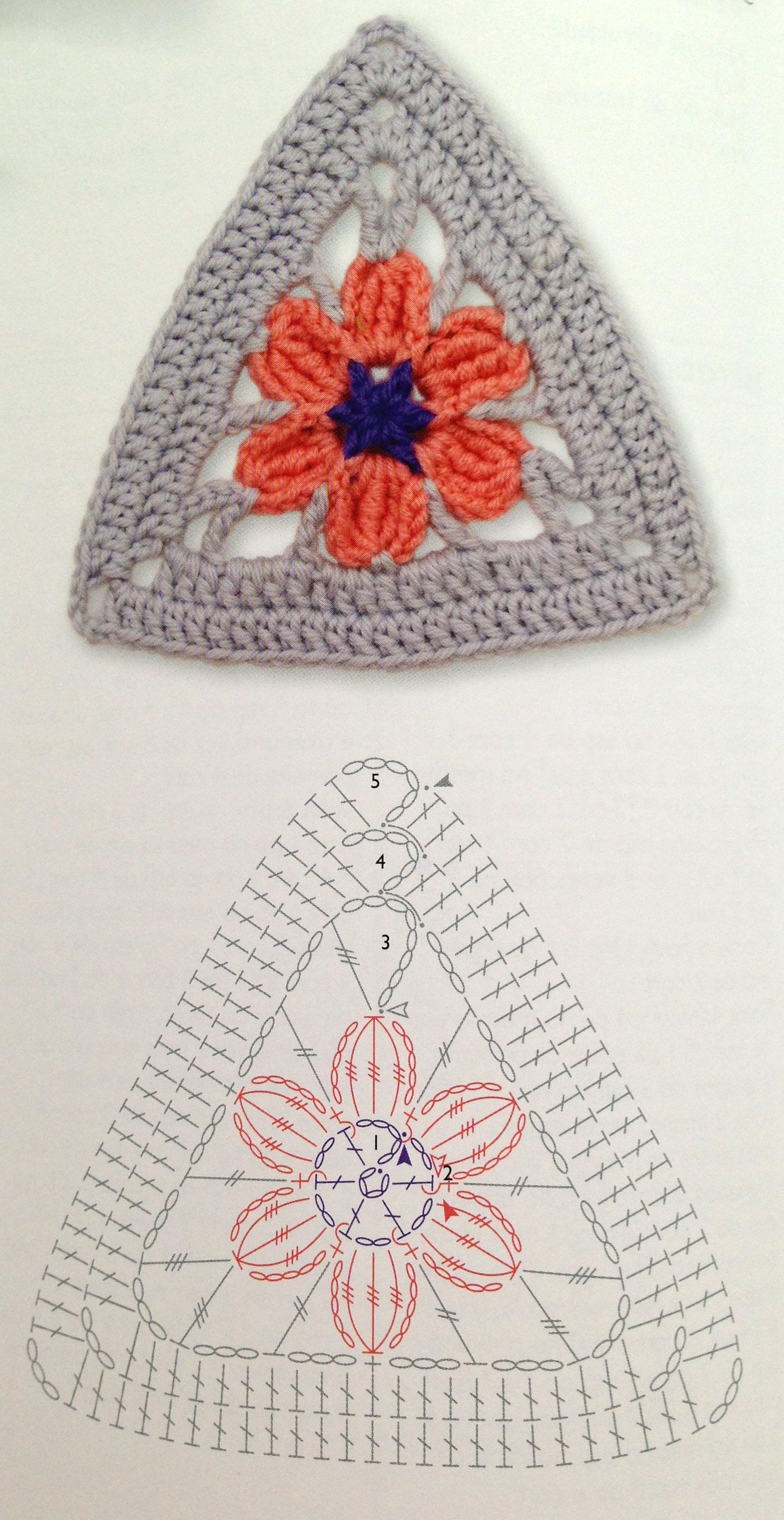 Crochet Triangle : triangle crochet flower pattern Crochet Pinterest