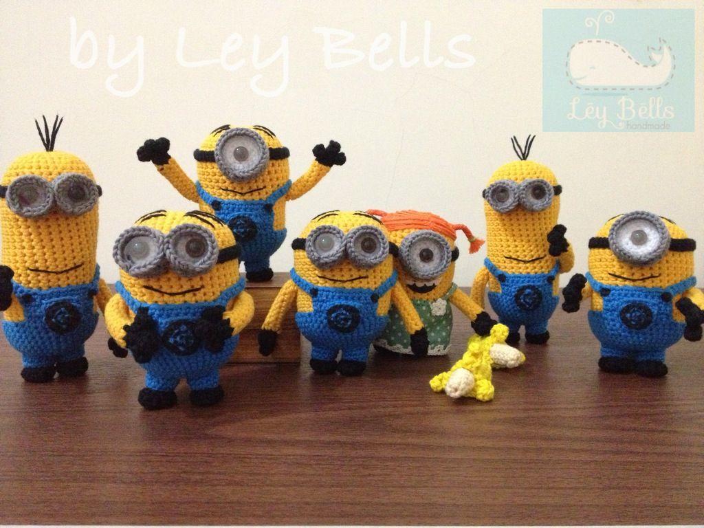 Amigurumi Minion Hakelanleitung : Amigurumi Minion by Ley Bells Crochet Pinterest