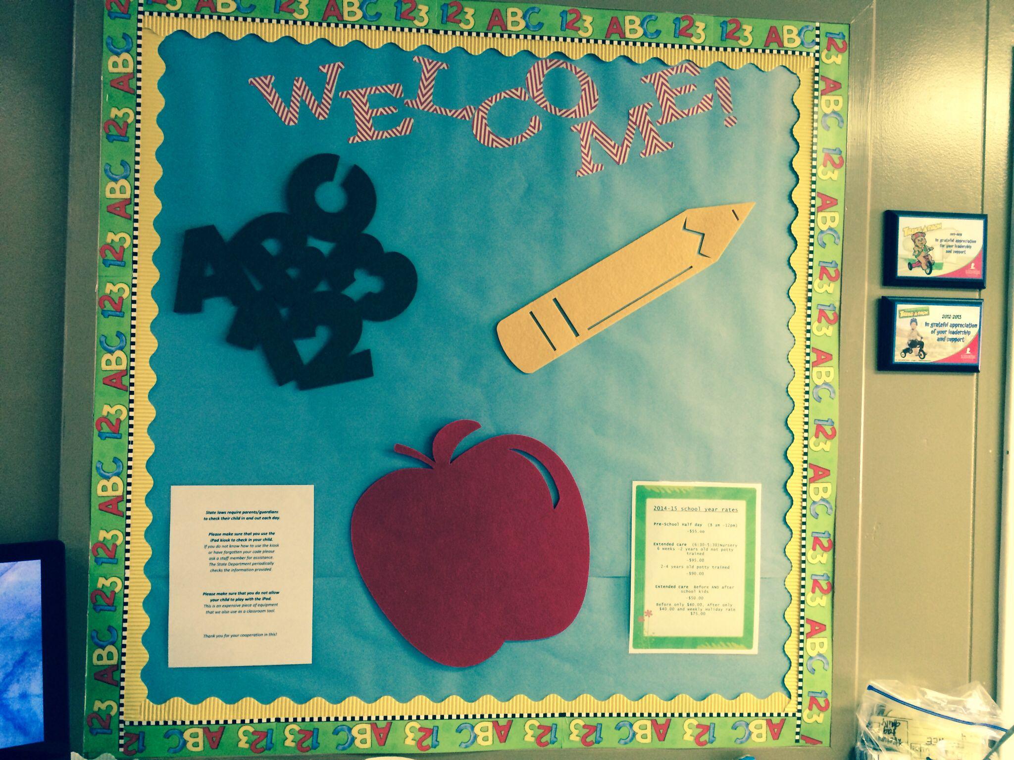 Classroom Welcome Ideas : Back to school welcome bulletin board classroom ideas
