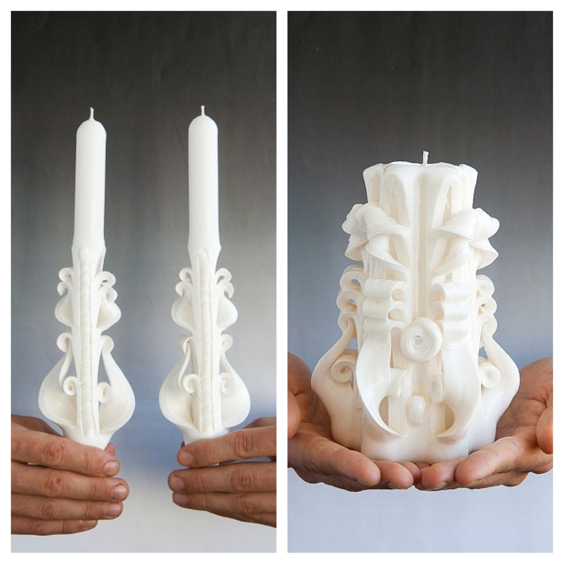 Carved unity candle carving pinterest