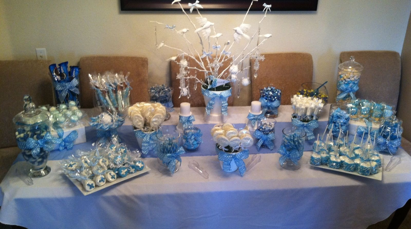 baptism candy table its my party pinterest